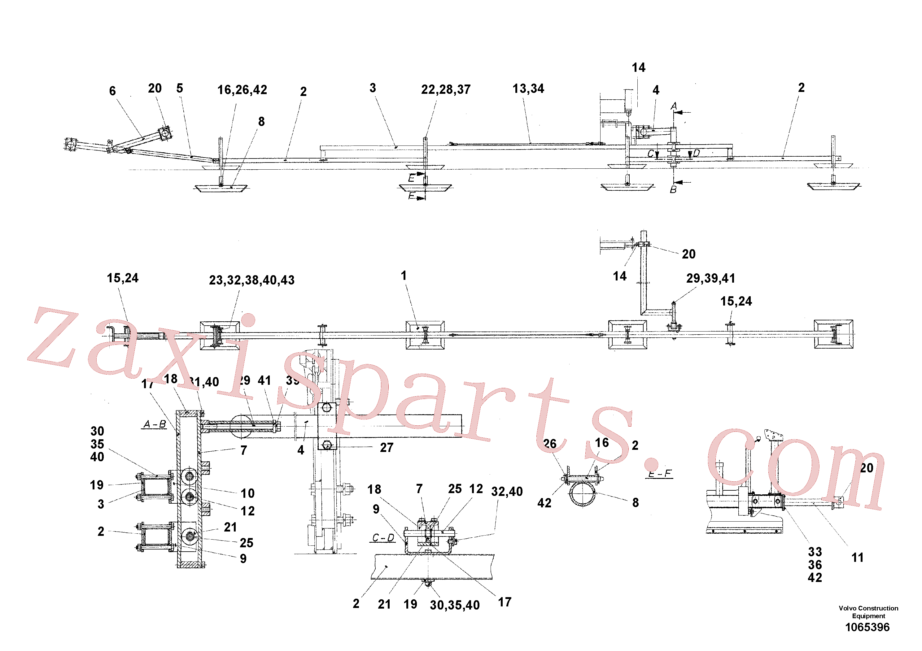 RM13909221 for Volvo Levelling Beam(1065396 assembly)