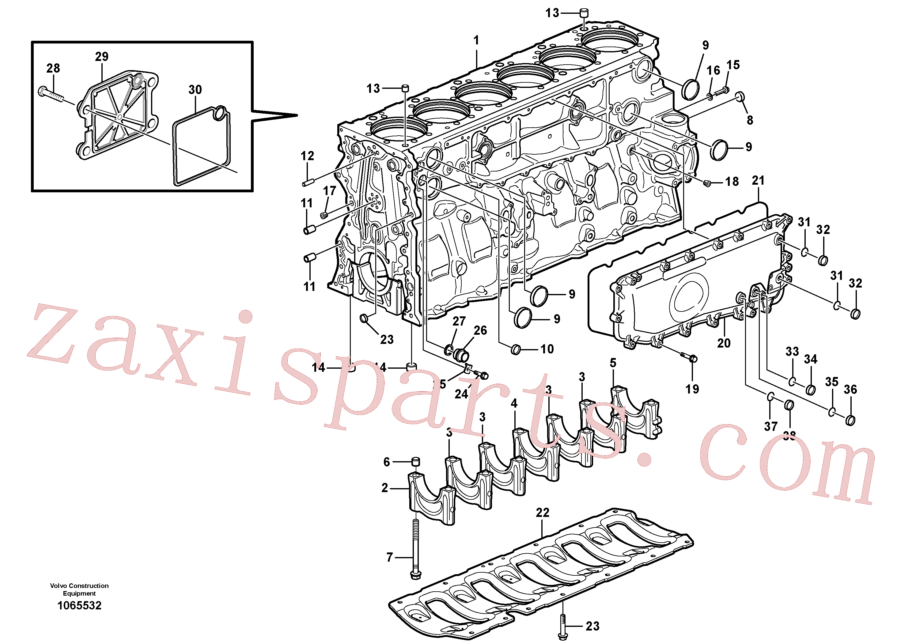 SA9324-11011 for Volvo Cylinder block(1065532 assembly)