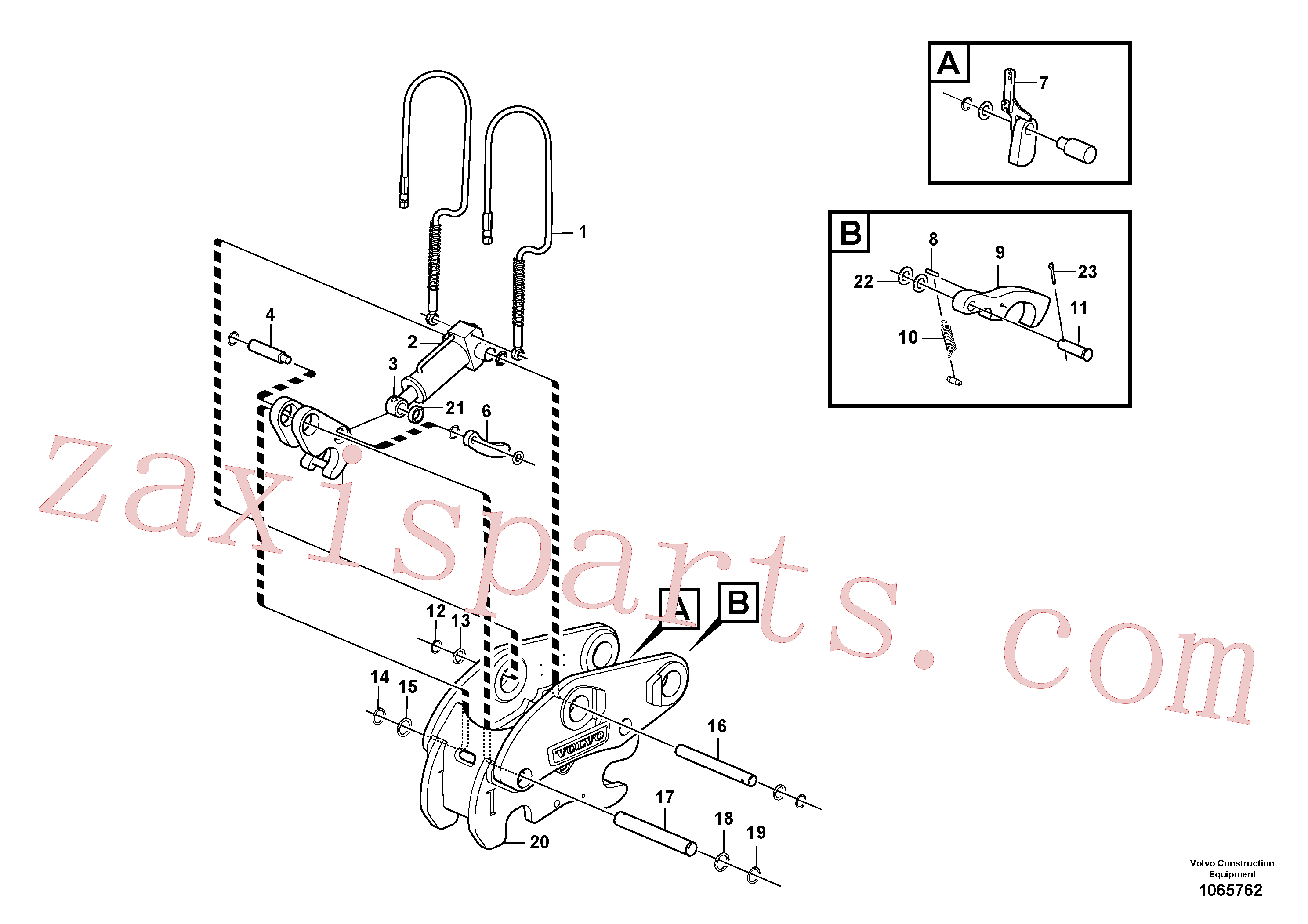 VOE15415857 for Volvo Attachment bracket, quickfit(1065762 assembly)
