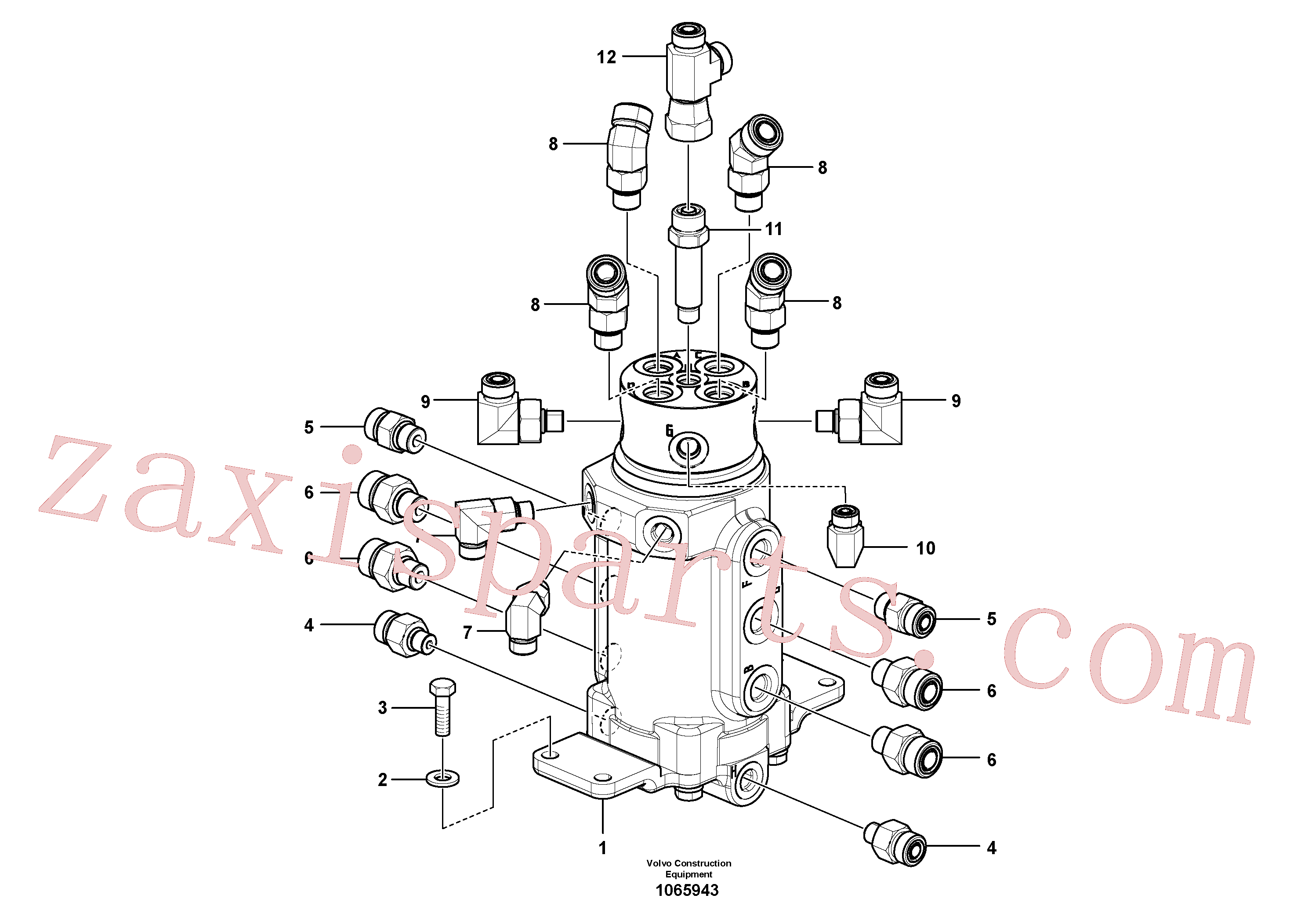 VOE937773 for Volvo Swivel joint equipment(1065943 assembly)