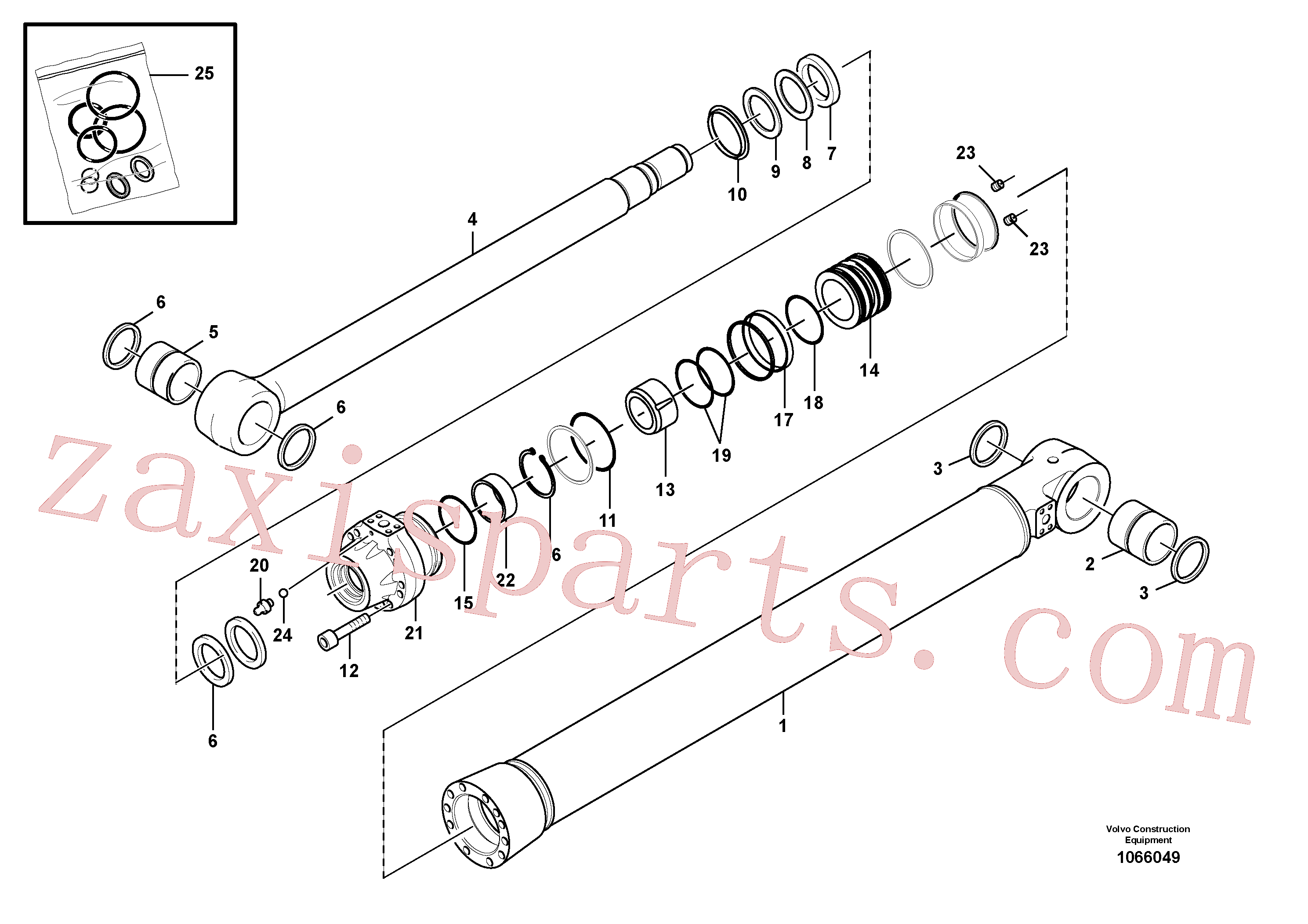 SA1146-08160 for Volvo Boom cylinder(1066049 assembly)