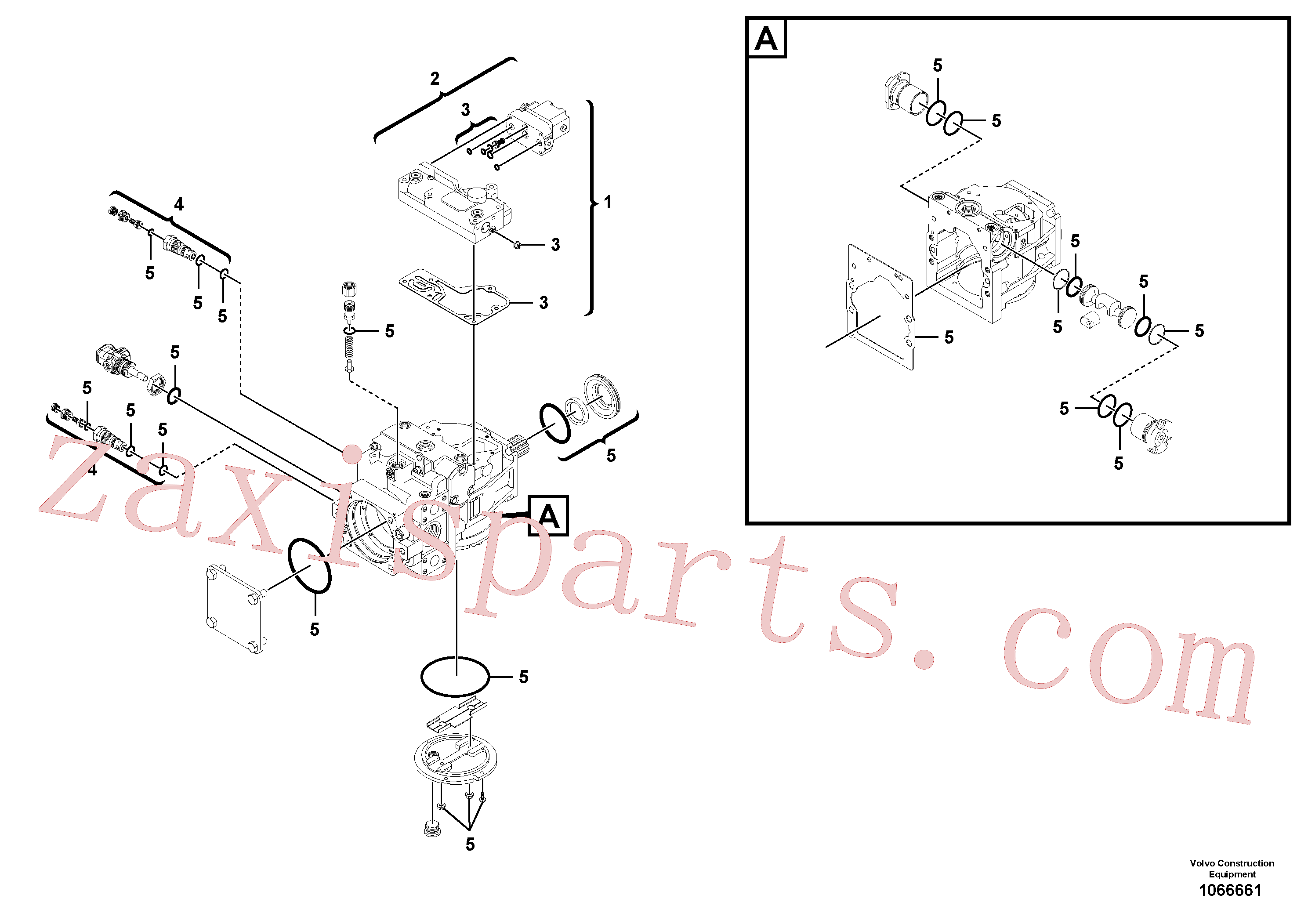 RM95210258 for Volvo Hydraulic pump(1066661 assembly)