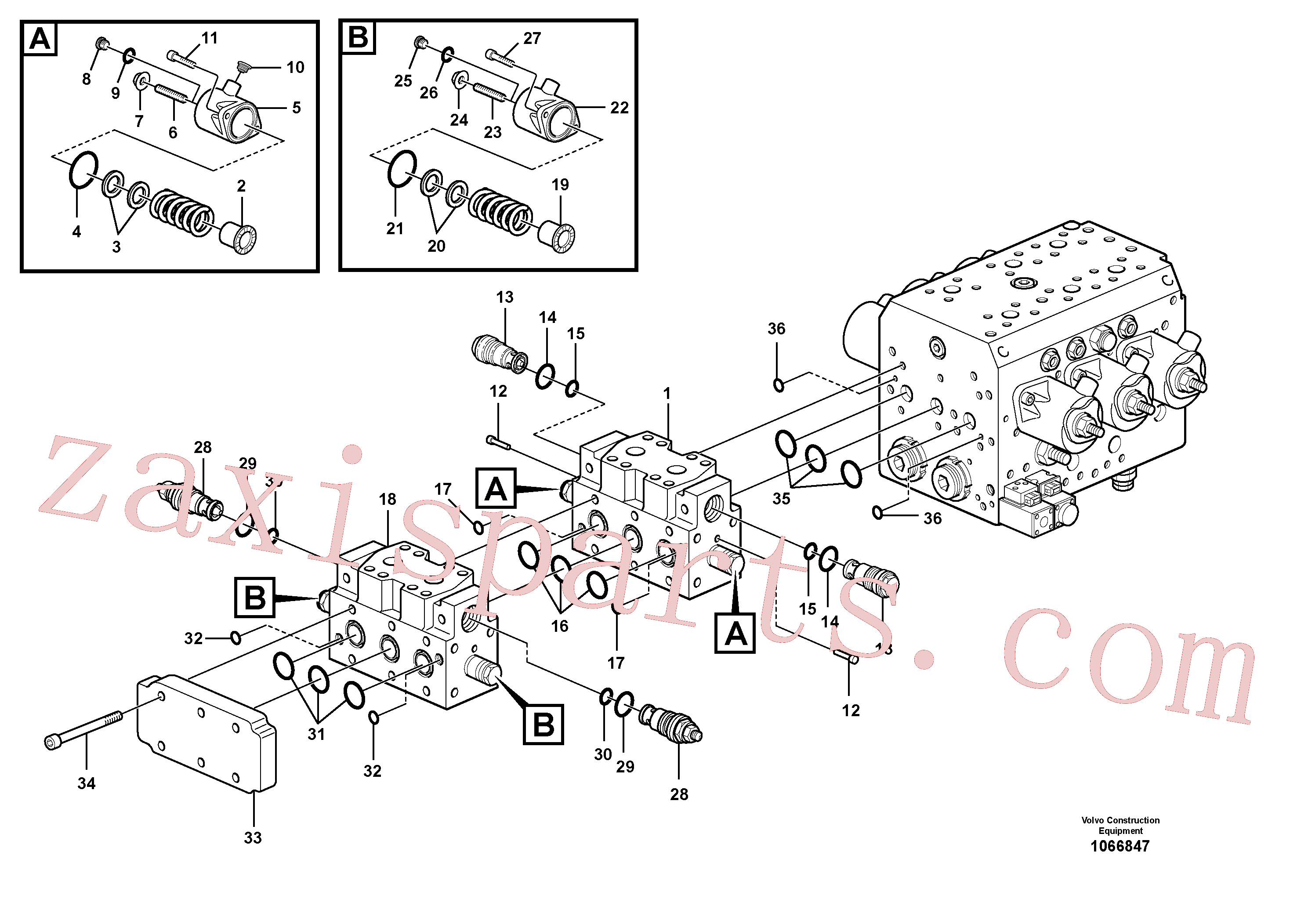 VOE11988755 for Volvo Hydraulic valve(1066847 assembly)