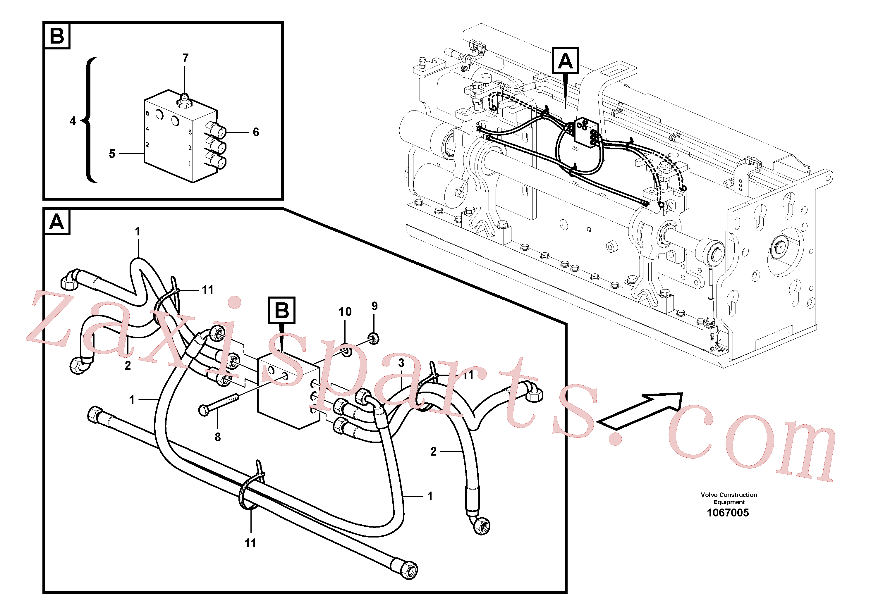 RM54513015 for Volvo Lubrication for extension(1067005 assembly)