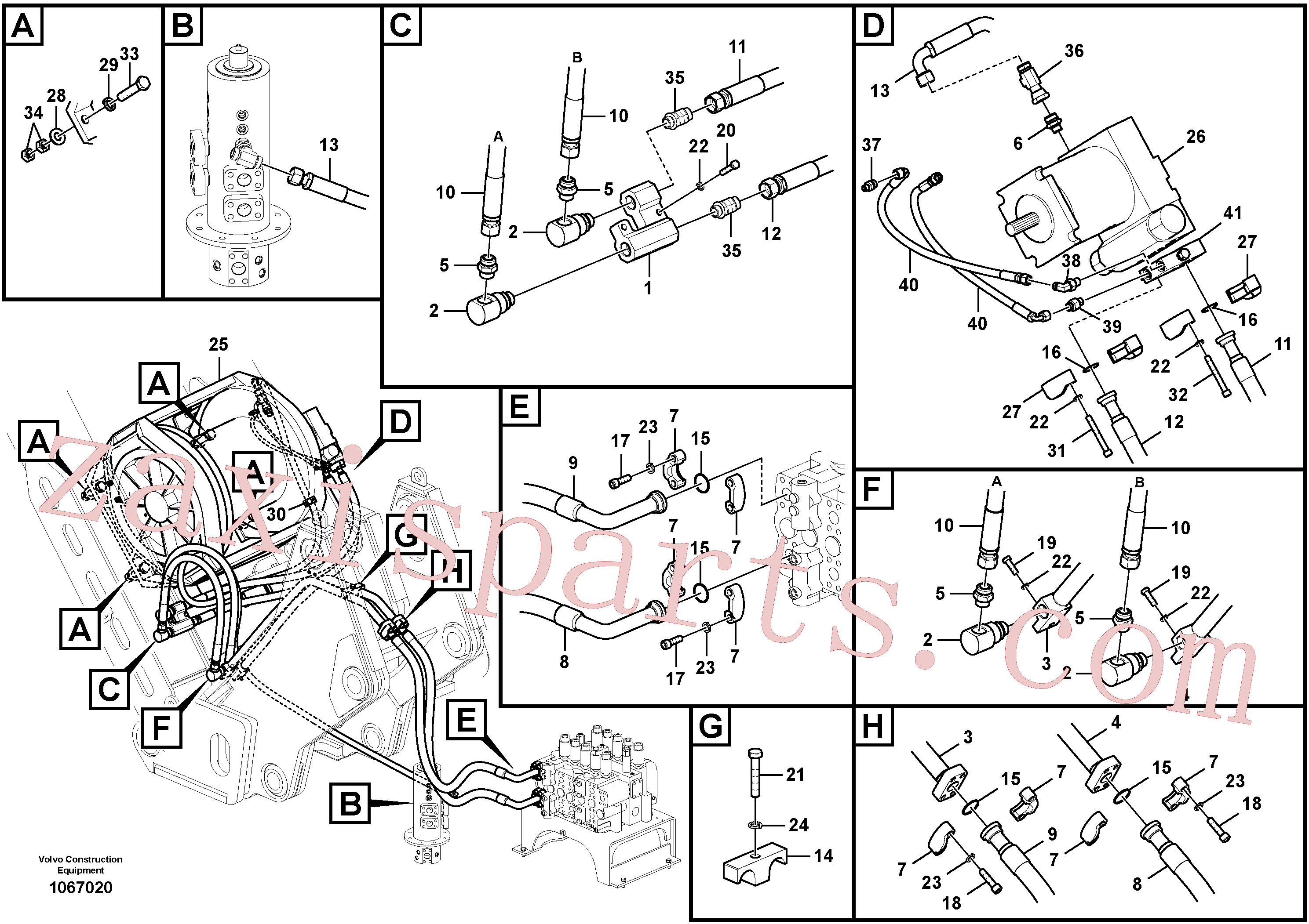 VOE15056768 for Volvo Work hydraulics, winch and motor(1067020 assembly)