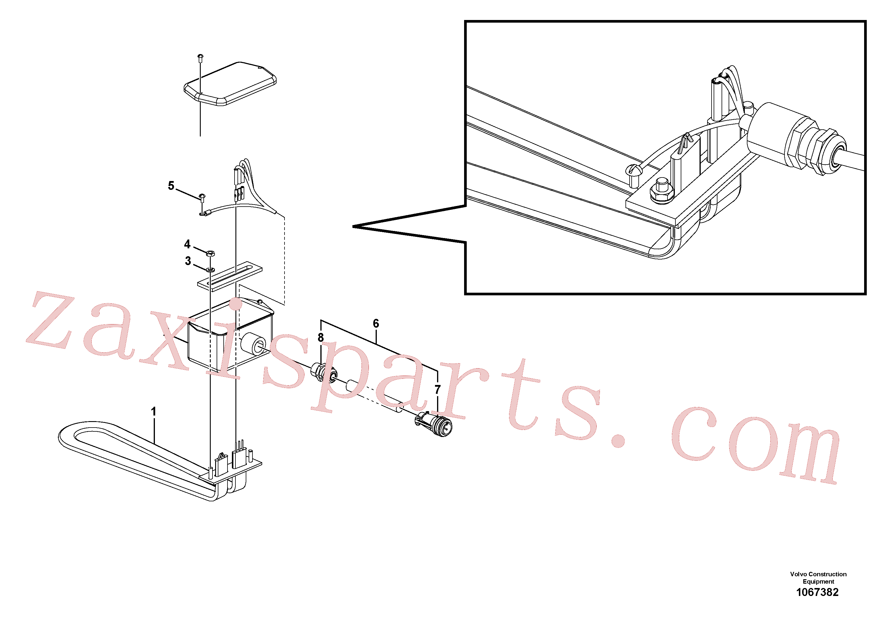RM95996393 for Volvo Heater Bar(1067382 assembly)