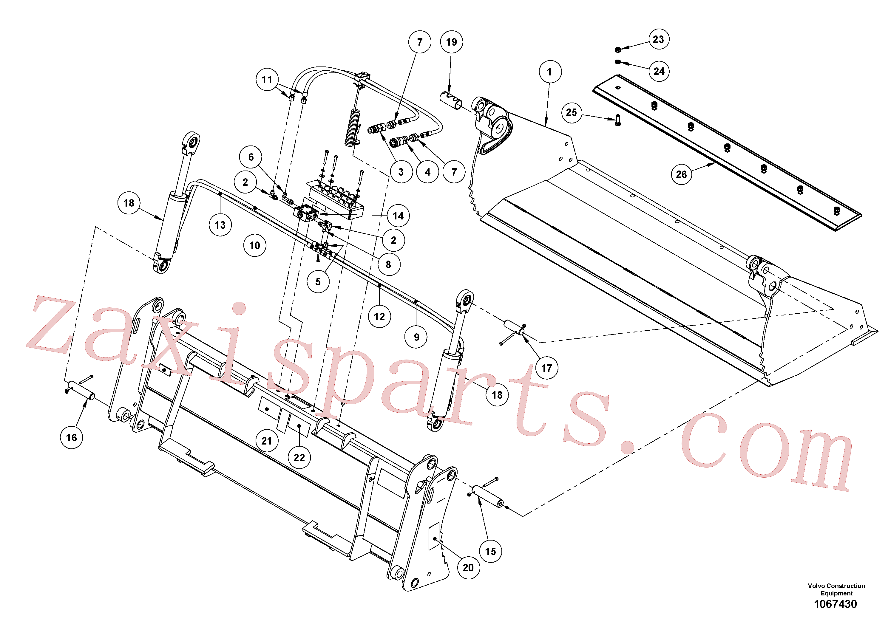 VOE16218064 for Volvo Multi-purpose bucket(1067430 assembly)