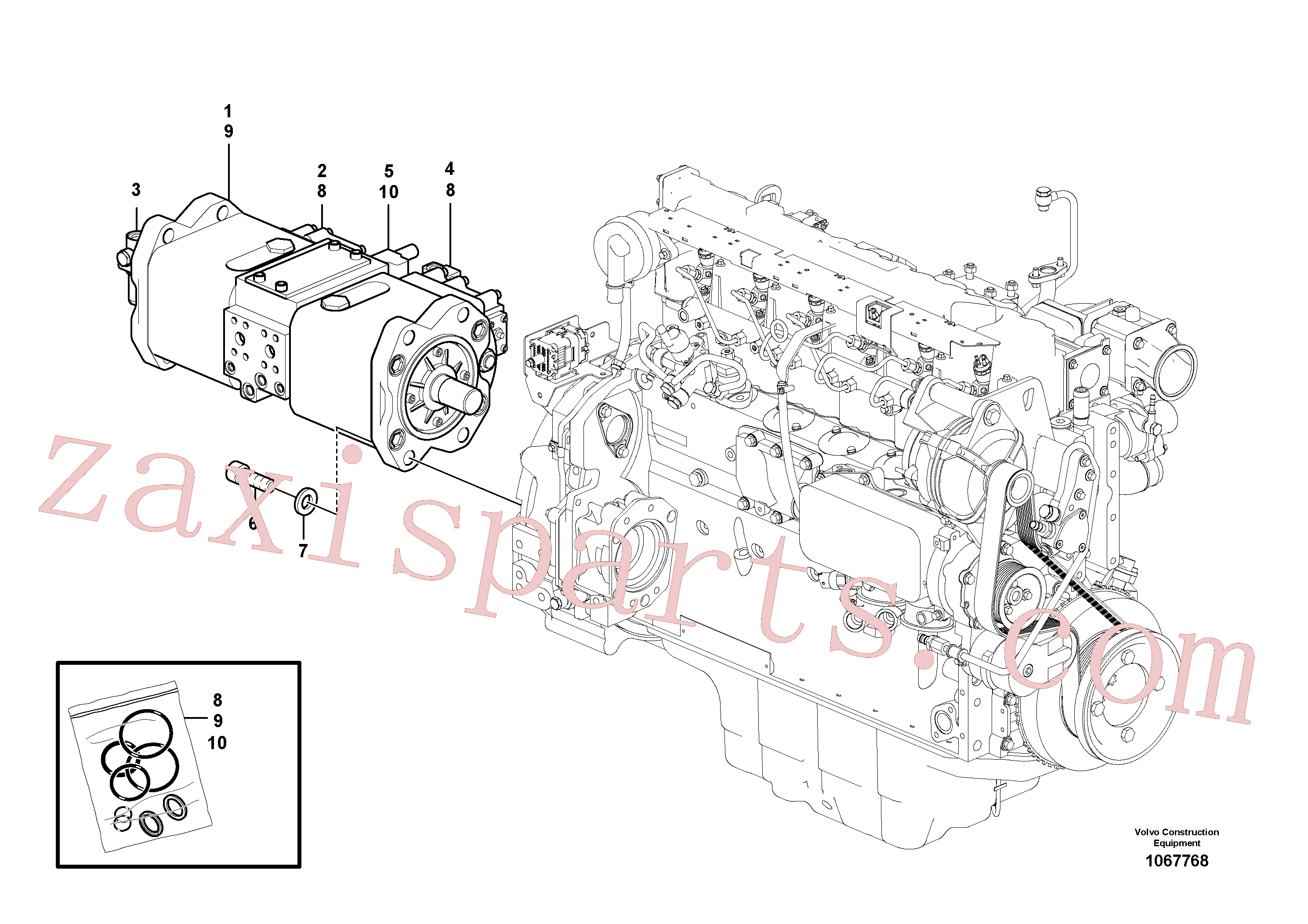 VOE14632316 for Volvo Pump installation(1067768 assembly)