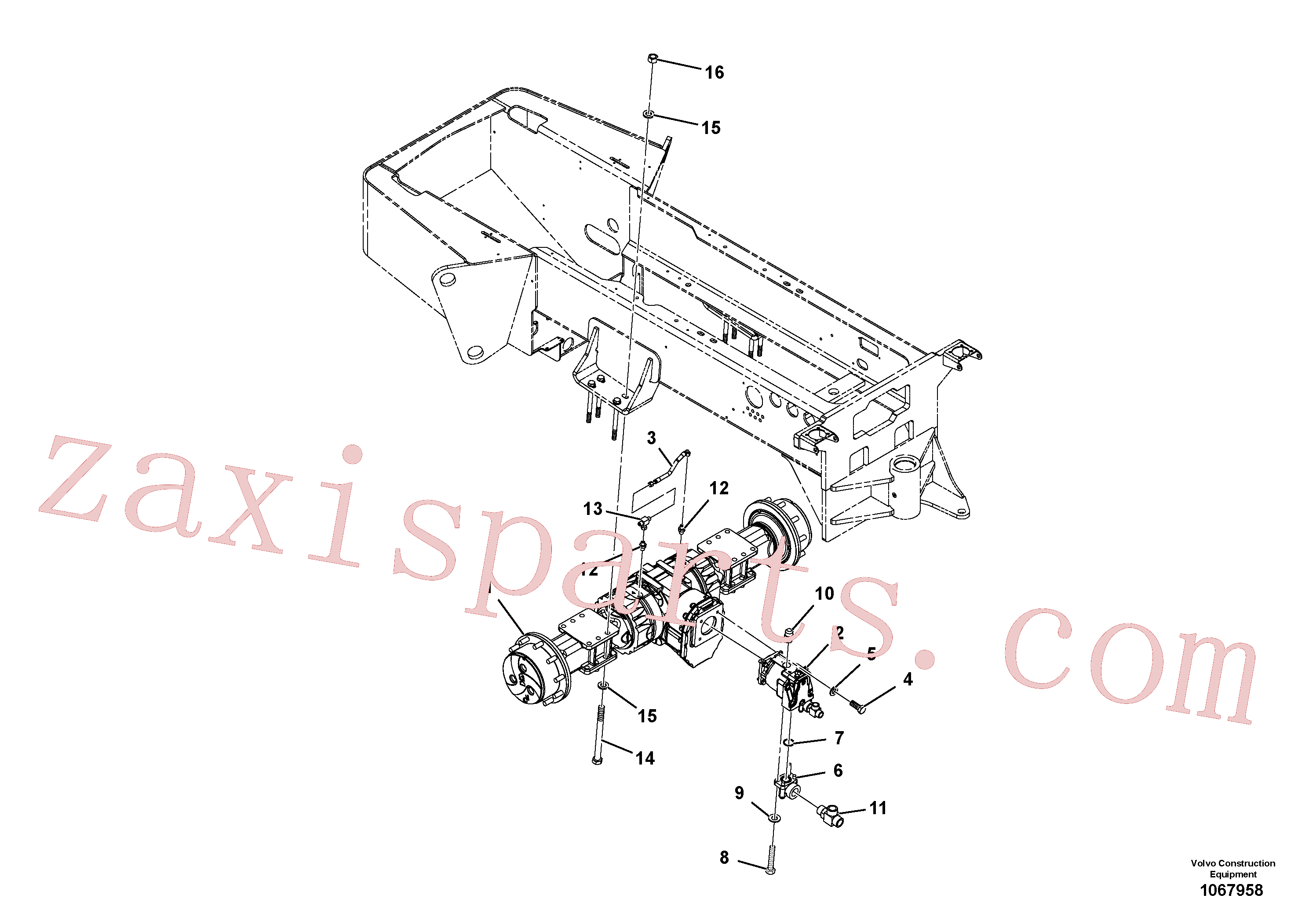 RM956606 for Volvo Axle Installation(1067958 assembly)
