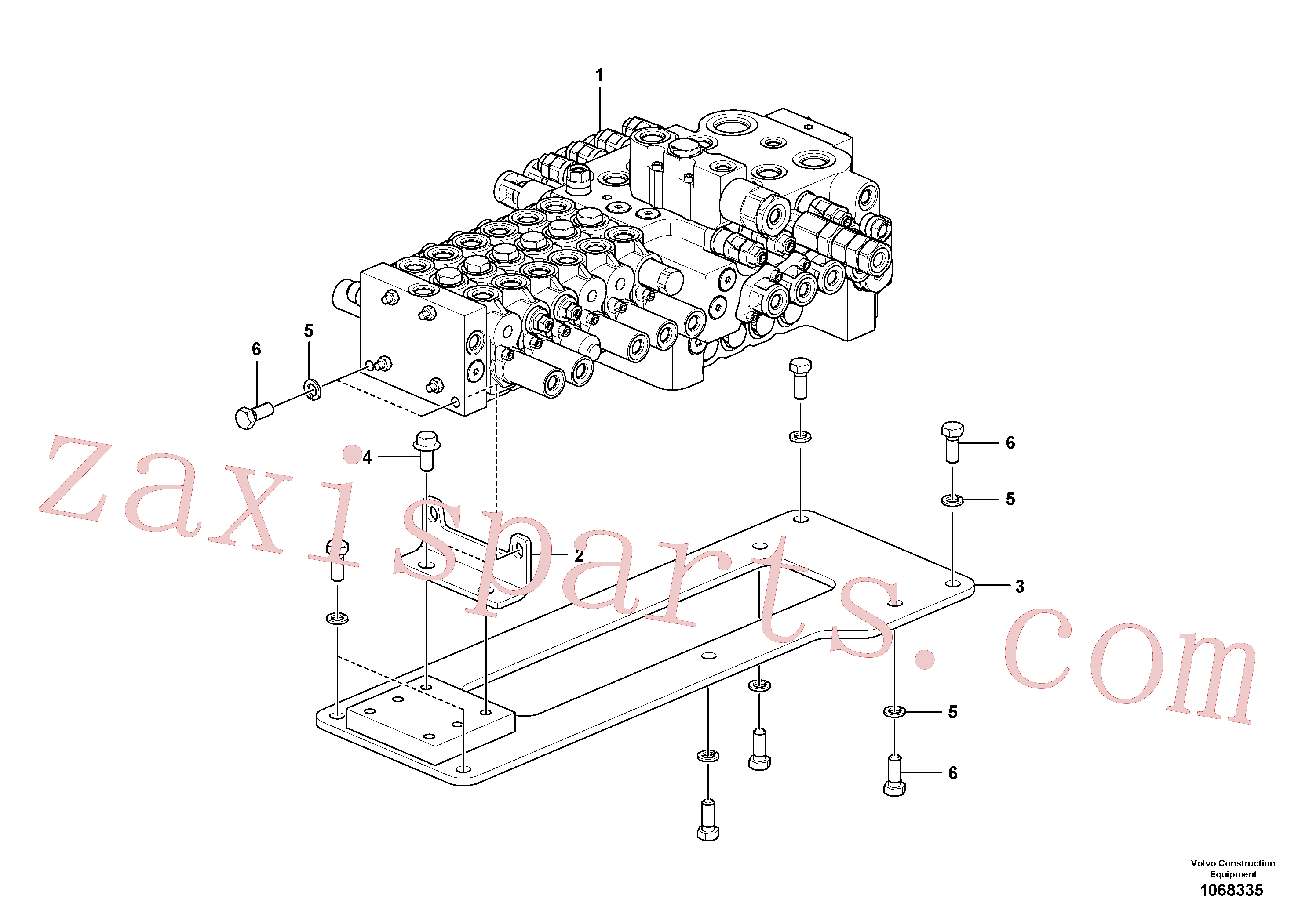VOE14675392 for Volvo Control valve with fitting parts.(1068335 assembly)