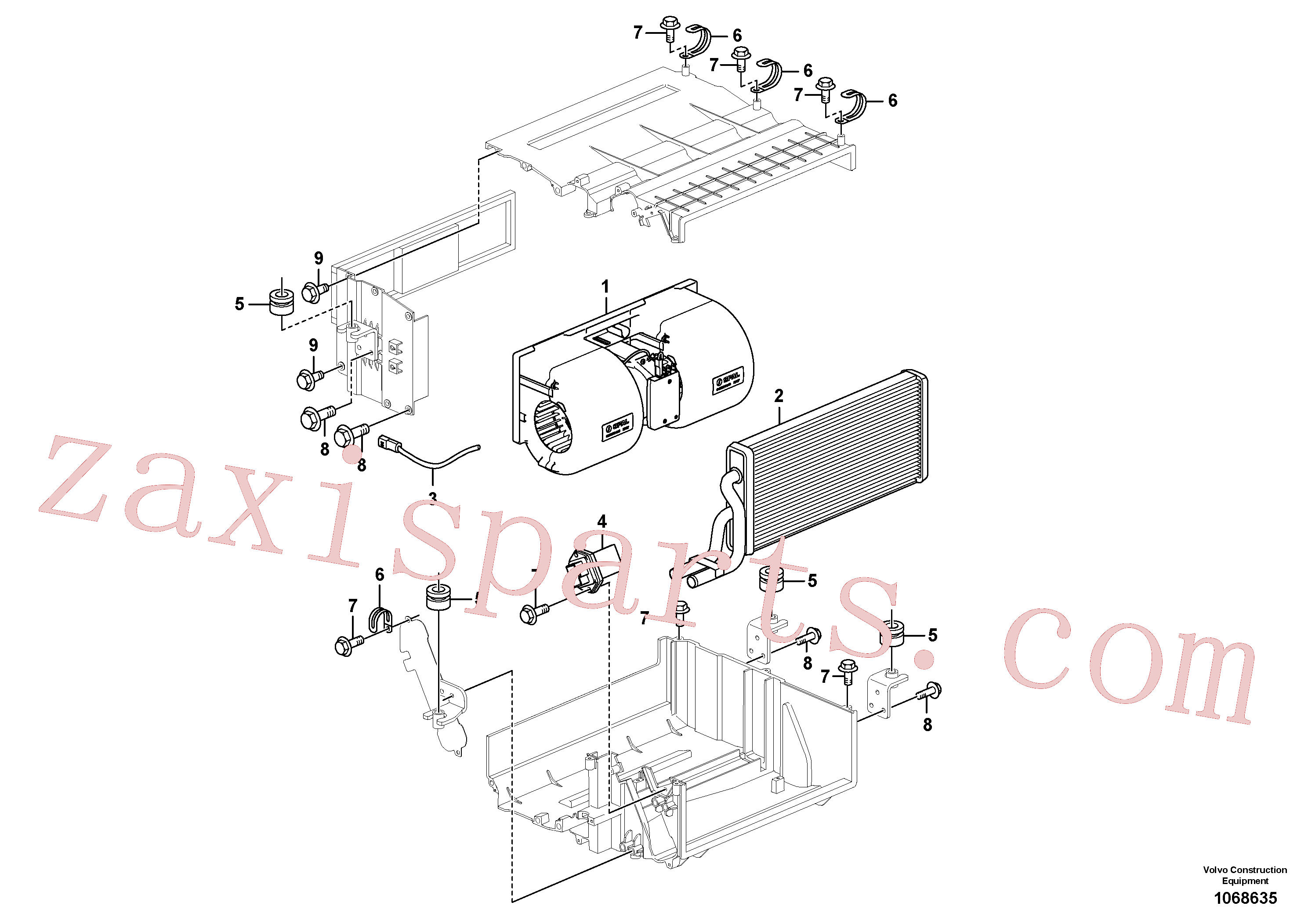 VOE14880564 for Volvo Heating unit(1068635 assembly)