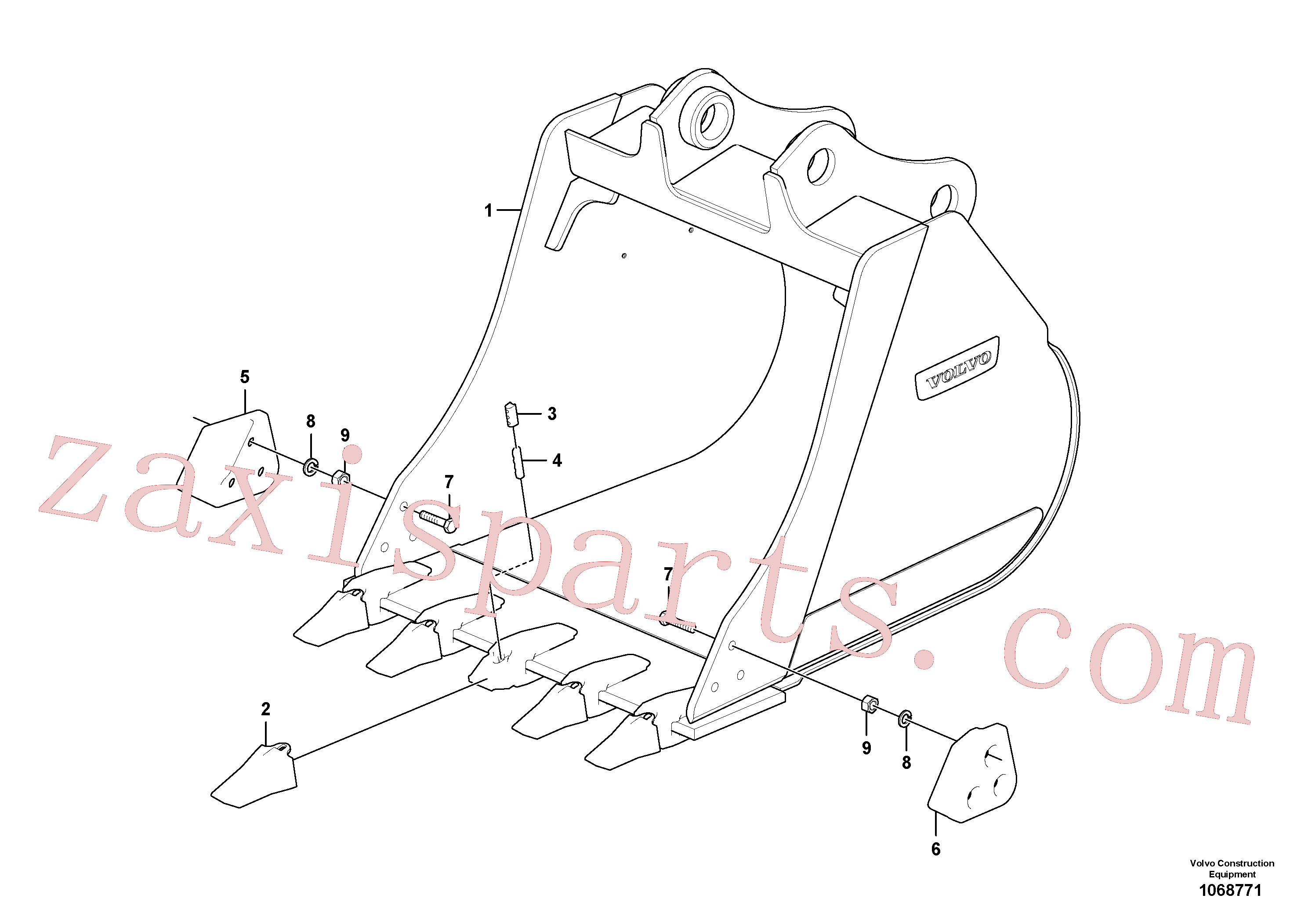 SA1071-01840 for Volvo Buckets for quickfit Combi parts(1068771 assembly)