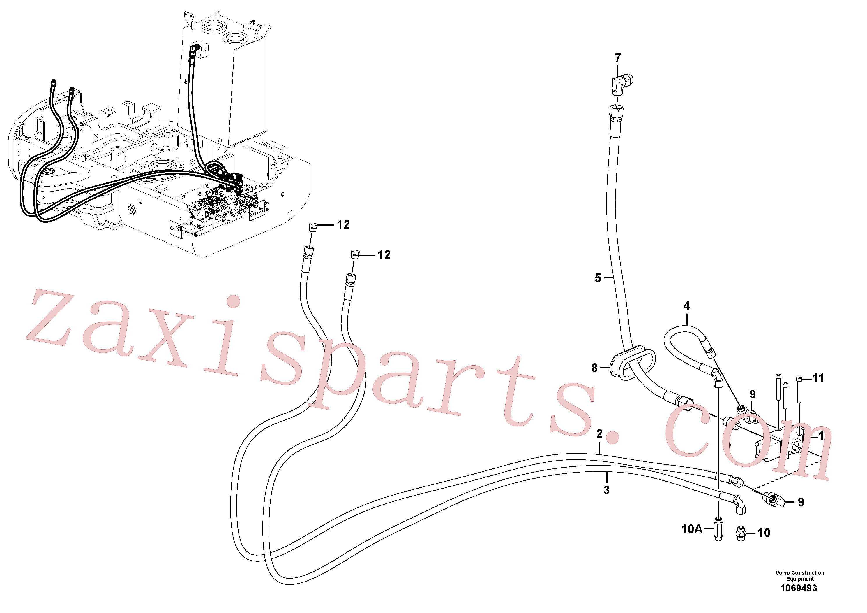 VOE14535177 for Volvo Working hydraulic, hammer and shear for upper(1069493 assembly)