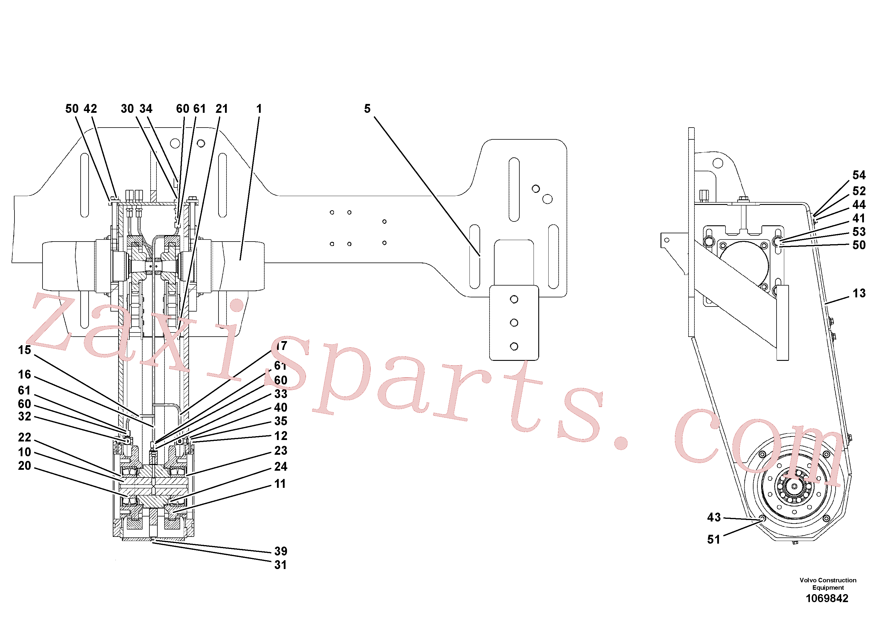 RM96706130 for Volvo Auger Drive(1069842 assembly)