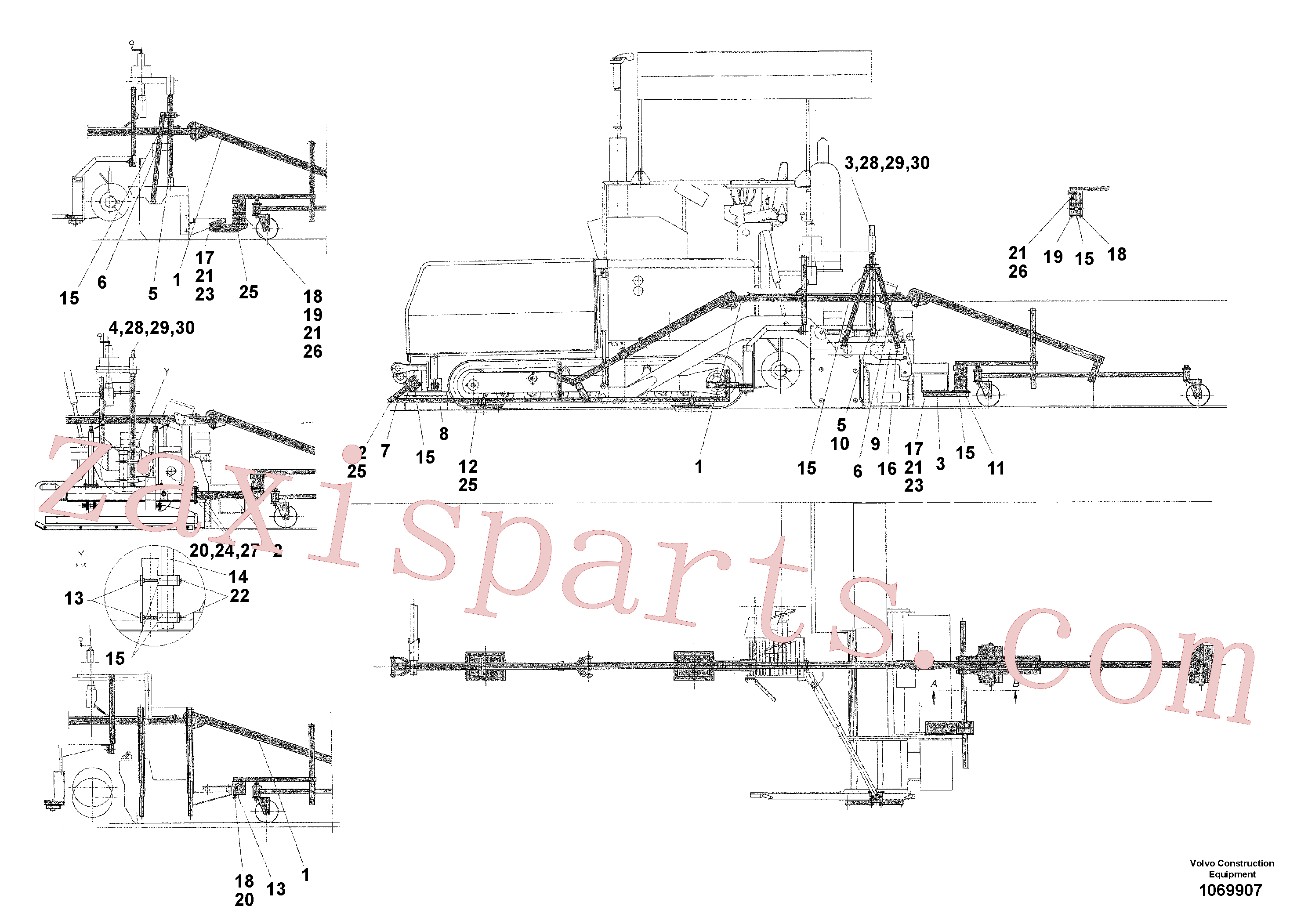 RM13909221 for Volvo Levelling Beam(1069907 assembly)