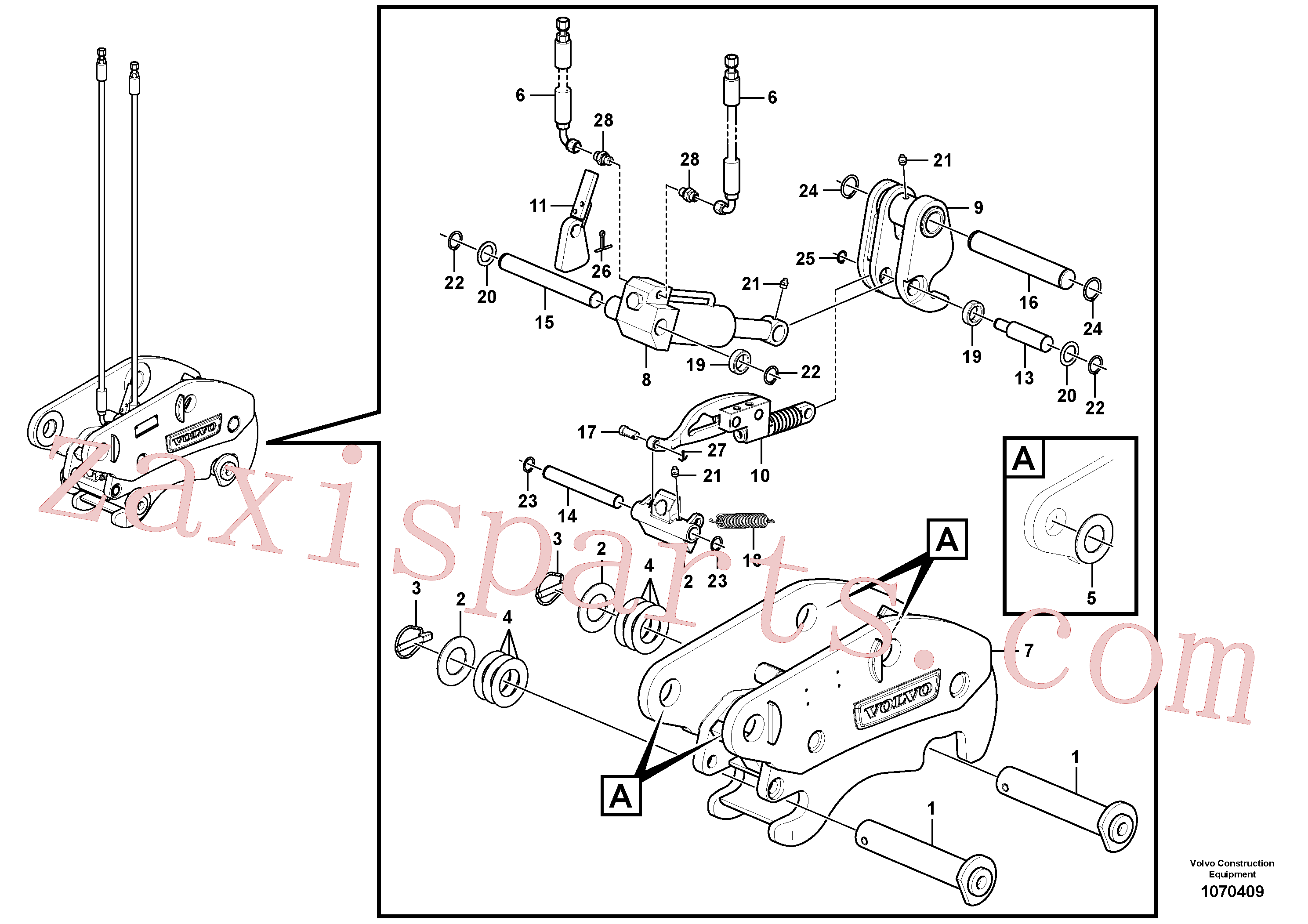 SA9541-01025 for Volvo Hydraulic attachment bracket(1070409 assembly)