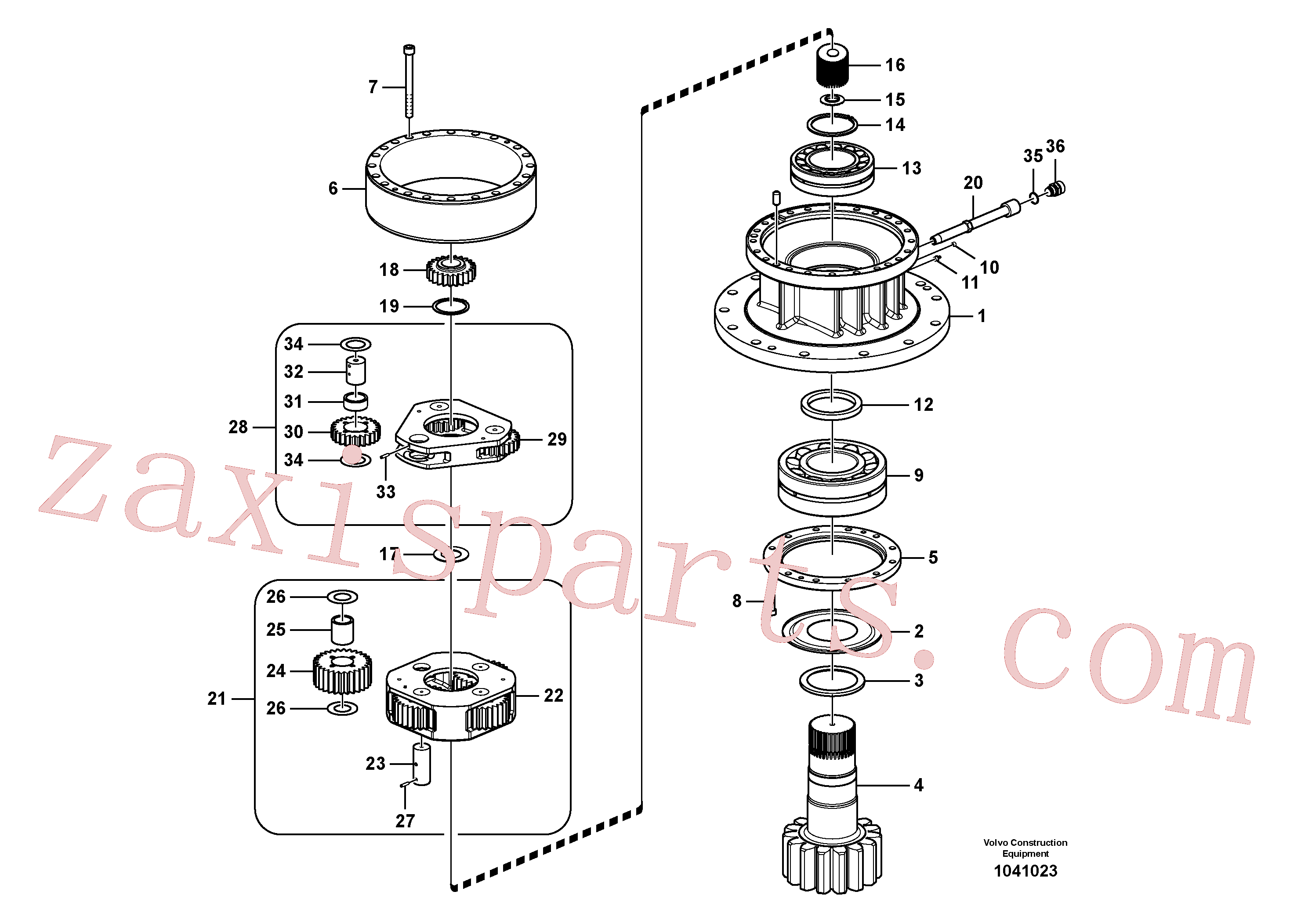 VOE14547277 for Volvo Swing gearbox(1070660 assembly)