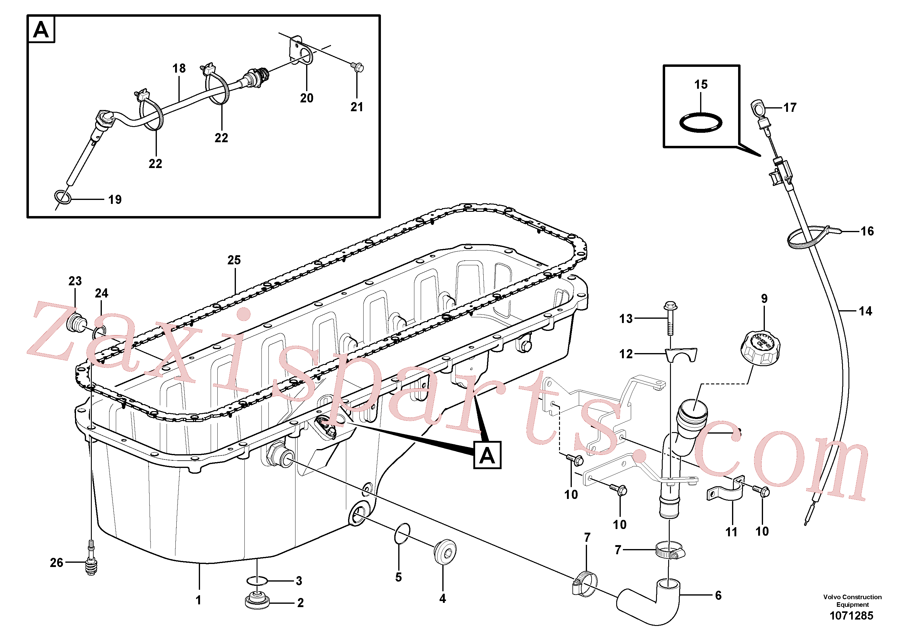 VOE984740 for Volvo Oil sump with mounting parts(1071285 assembly)