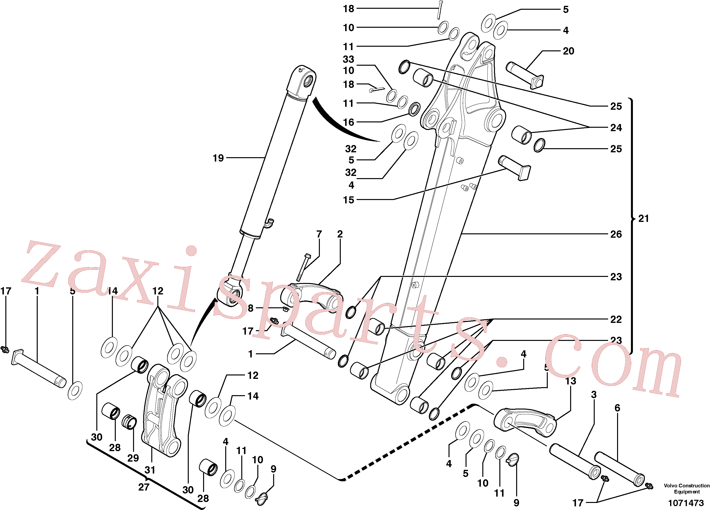 PJ4550047 for Volvo Dipper arm(1071473 assembly)