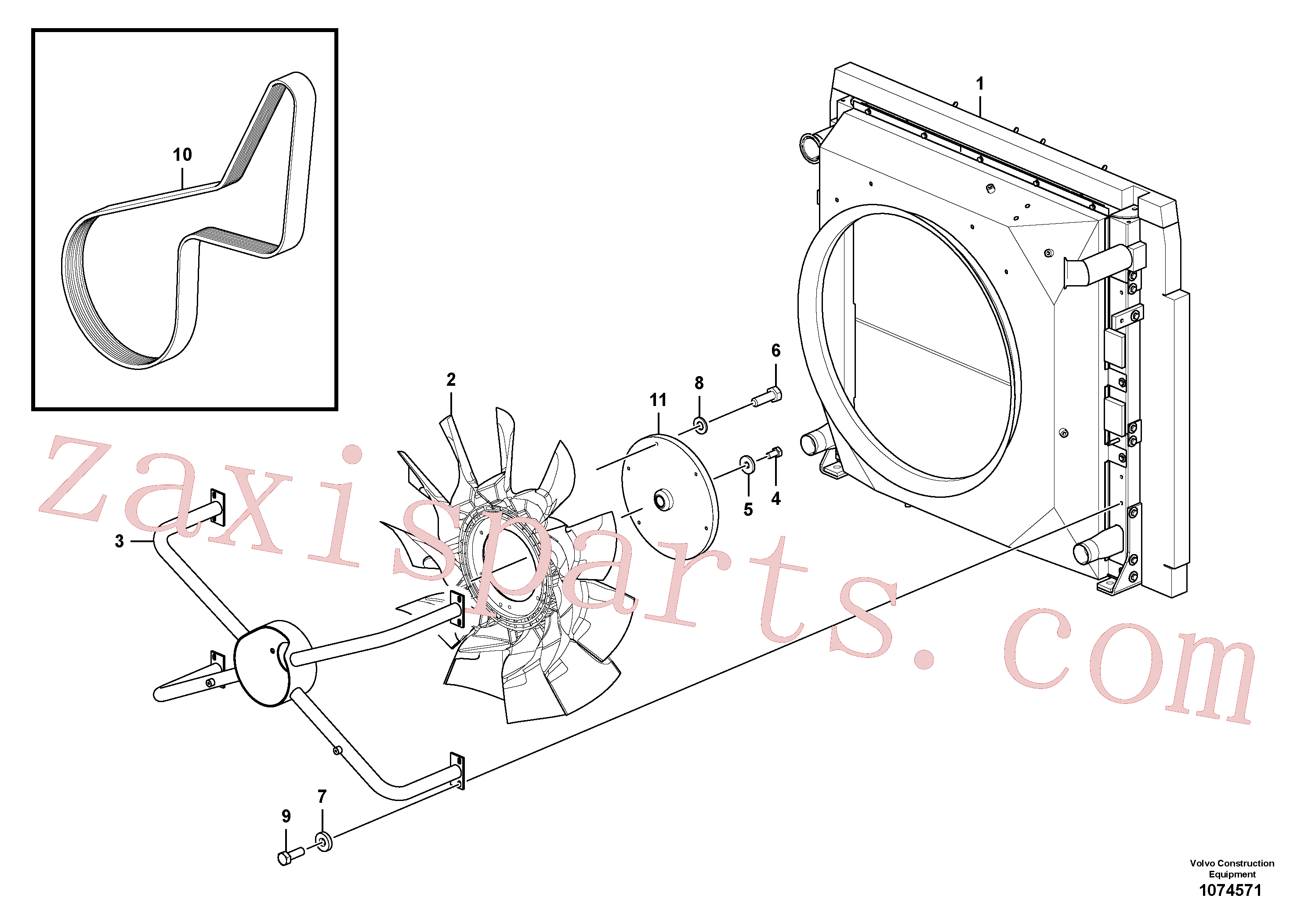 VOE14536063 for Volvo Cooling system(1074571 assembly)