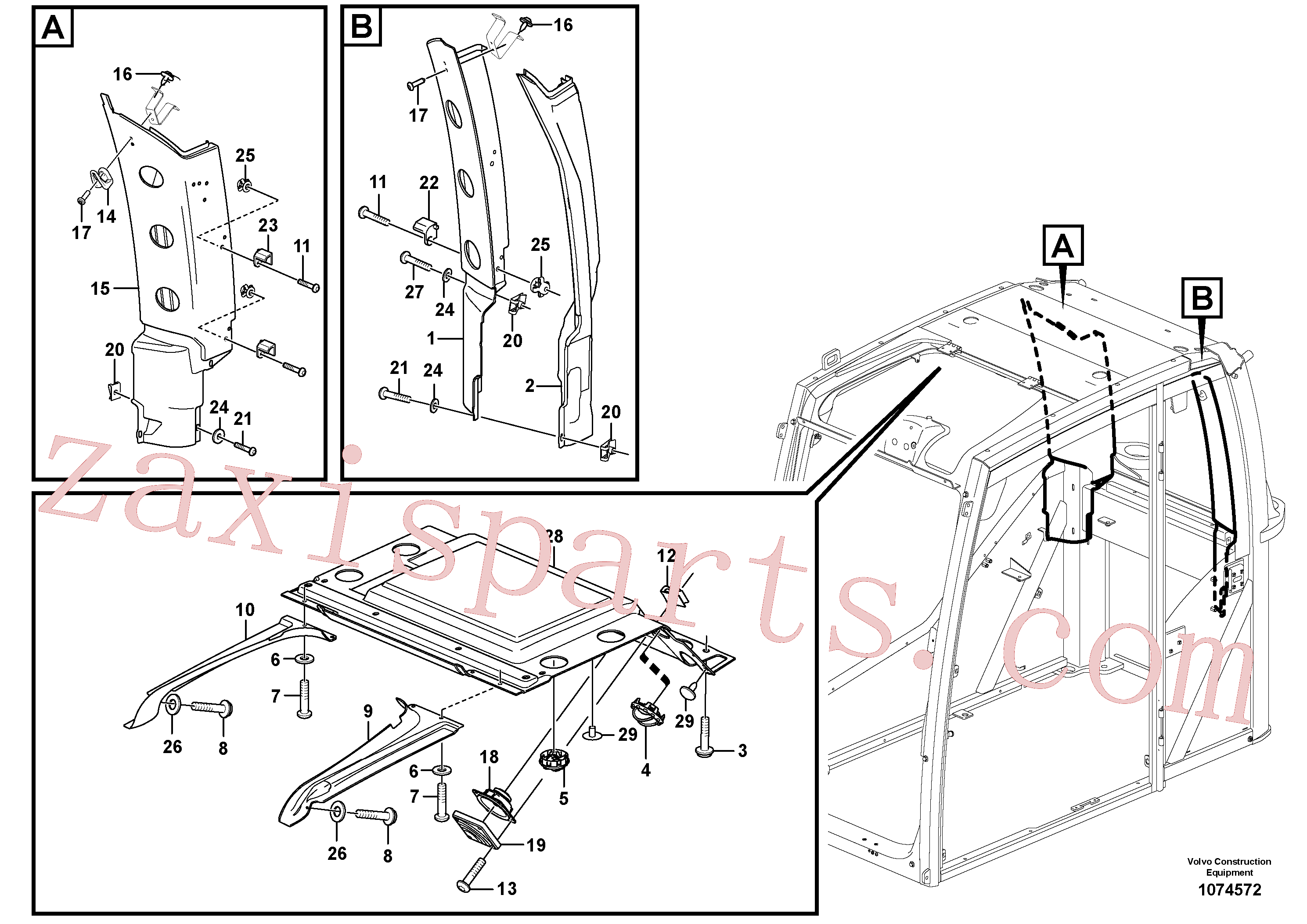 VOE4945078 for Volvo Interior components(1074572 assembly)