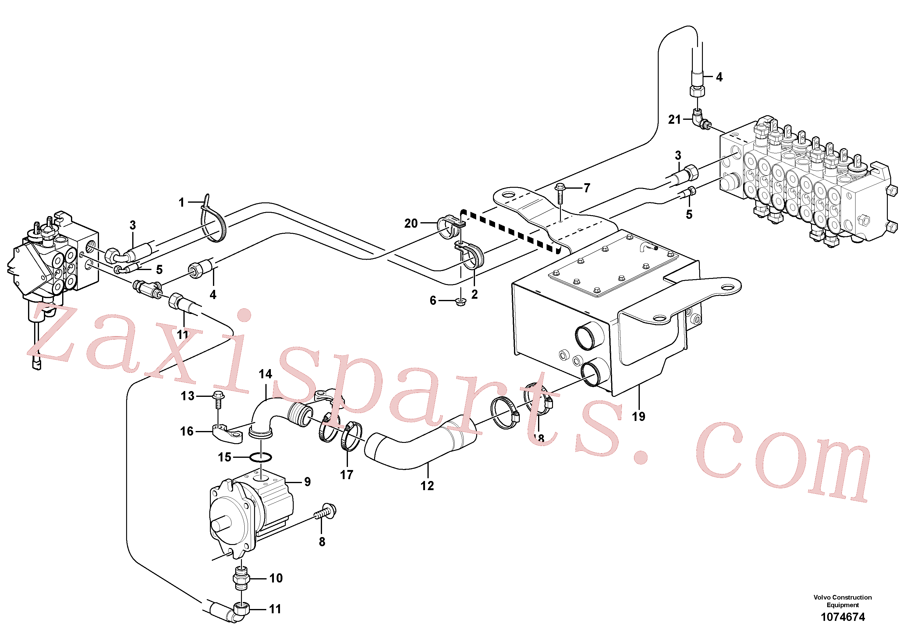 VOE11023360 for Volvo Hydraulic system, suction line(1074674 assembly)