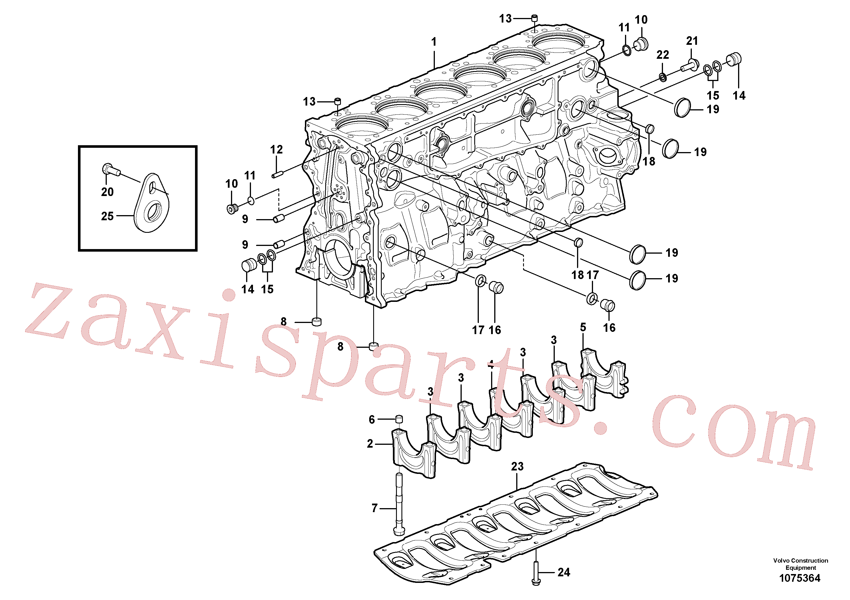 SA9324-11011 for Volvo Cylinder block(1075364 assembly)
