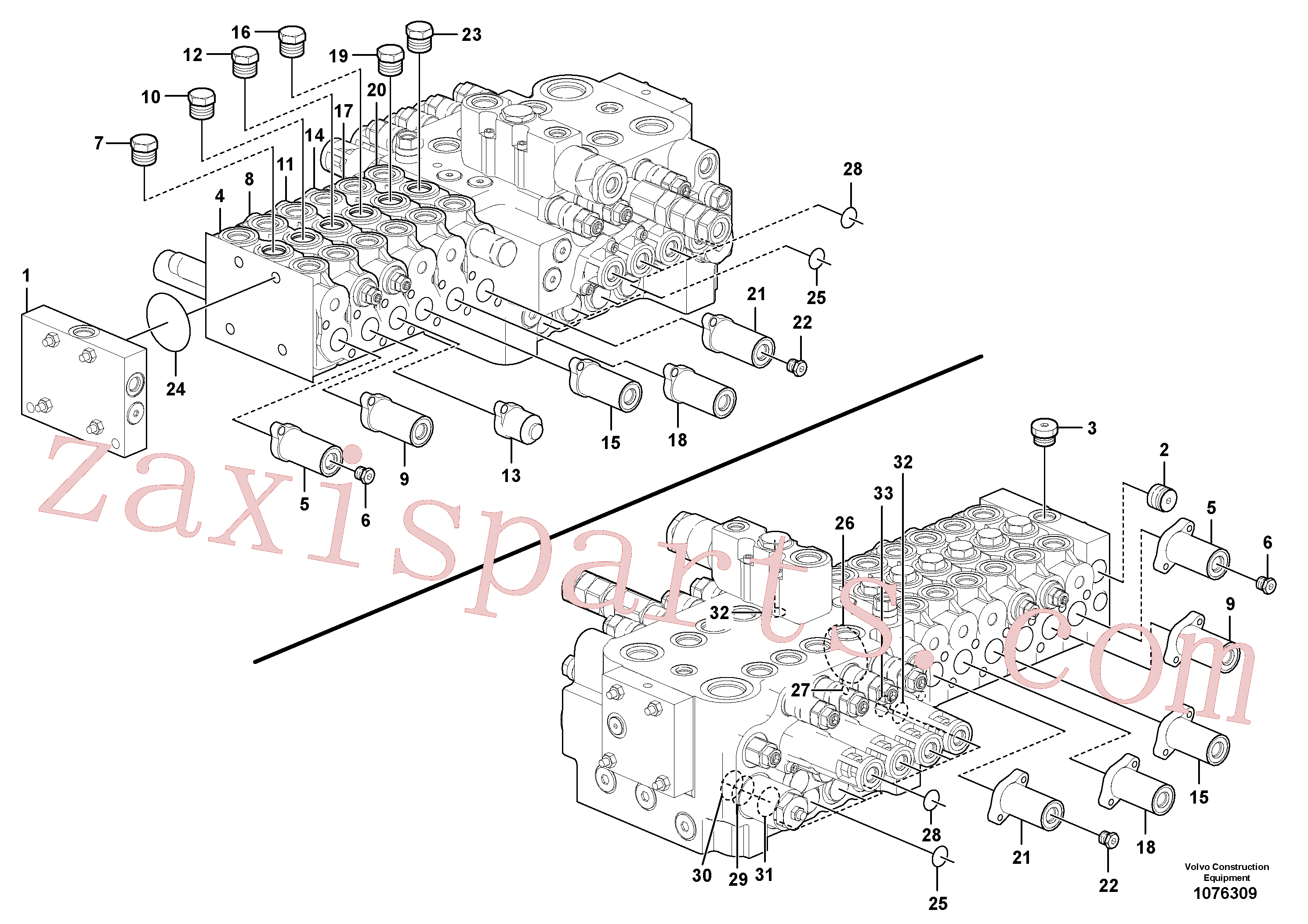 VOE14675392 for Volvo Main control valve(1076309 assembly)