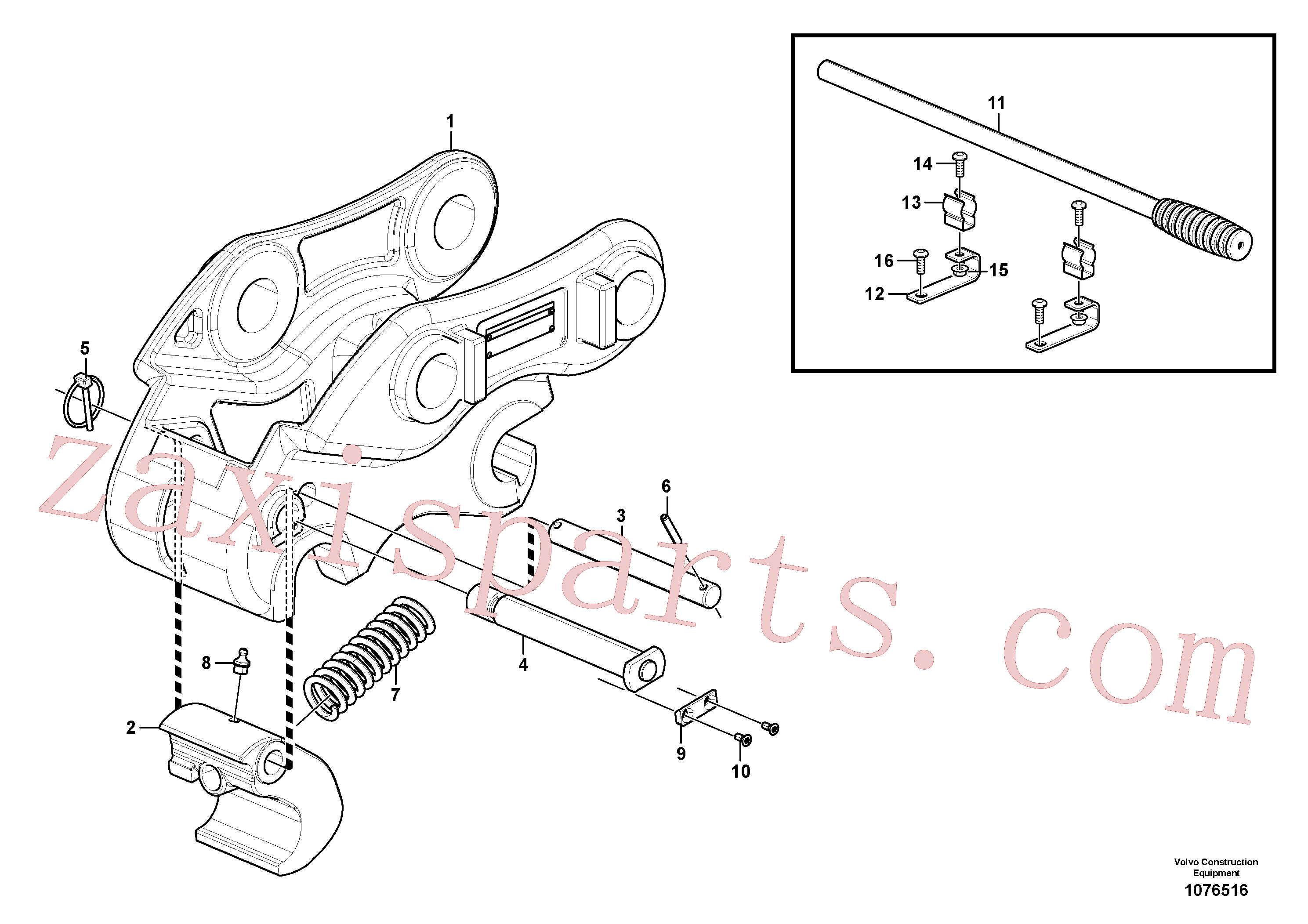 VOE15626795 for Volvo Quickfit, mechanical(1076516 assembly)