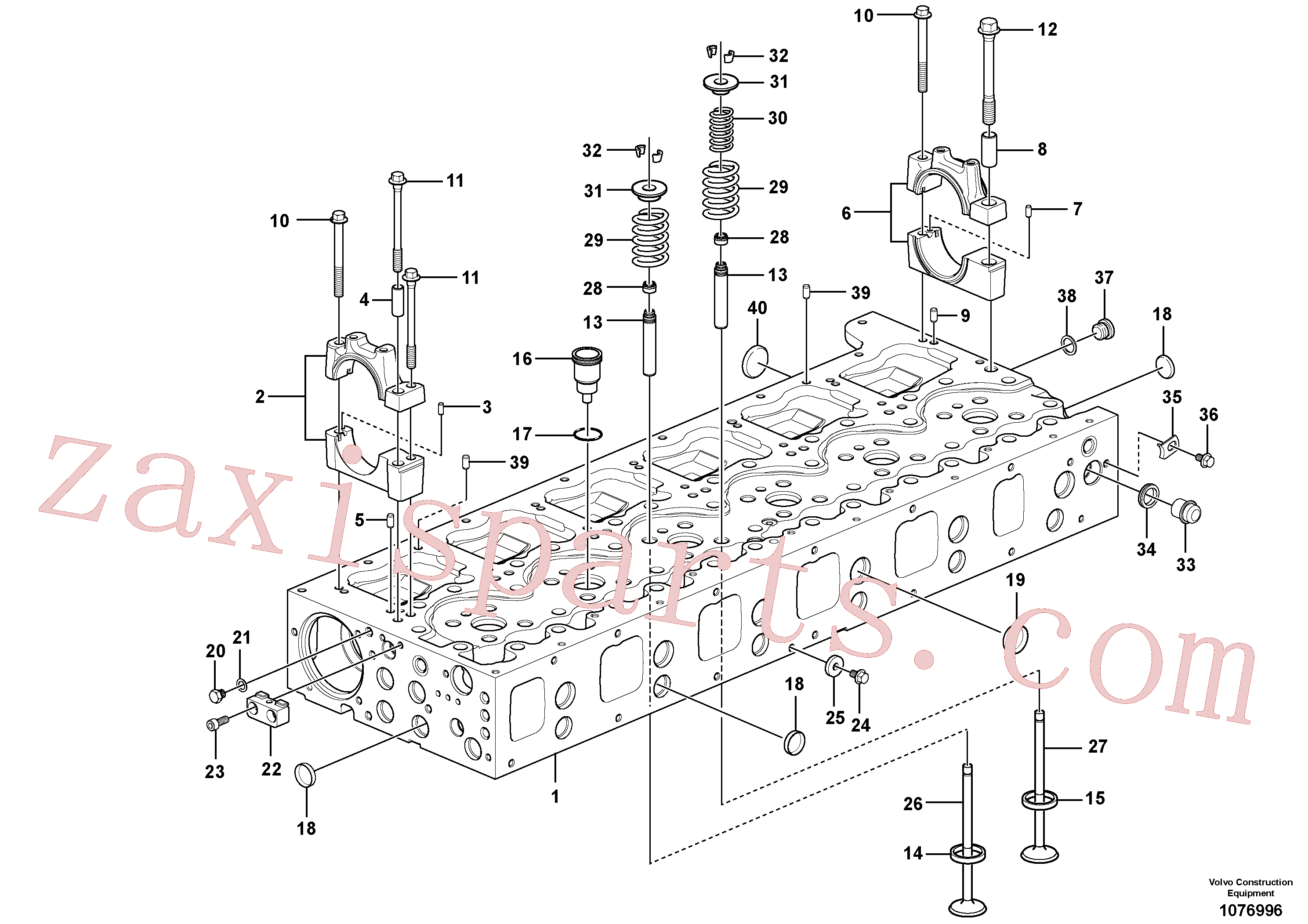 VOE994823 for Volvo Cylinder head(1076996 assembly)