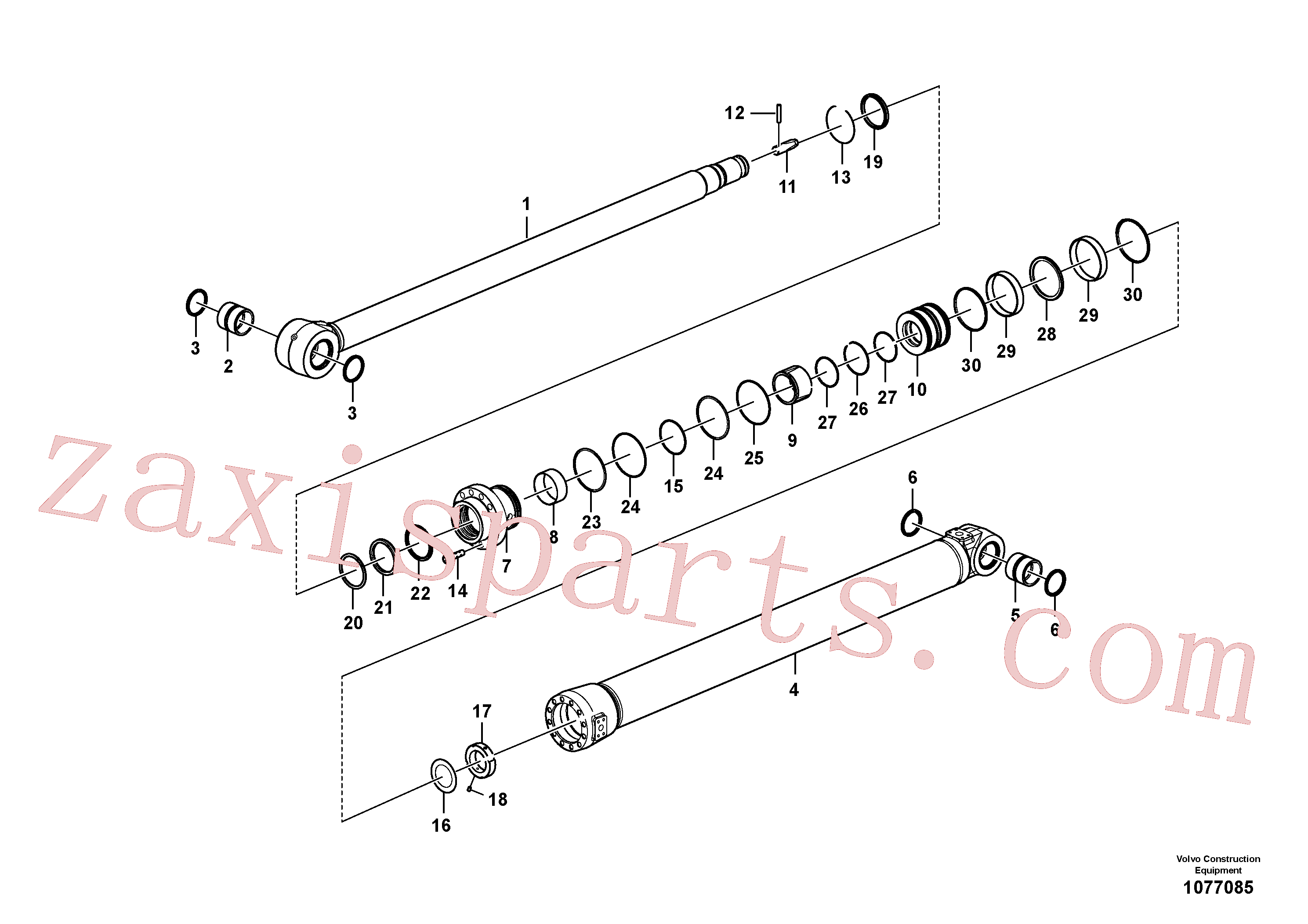 VOE14647168 for Volvo Dipper arm cylinder(1077085 assembly)