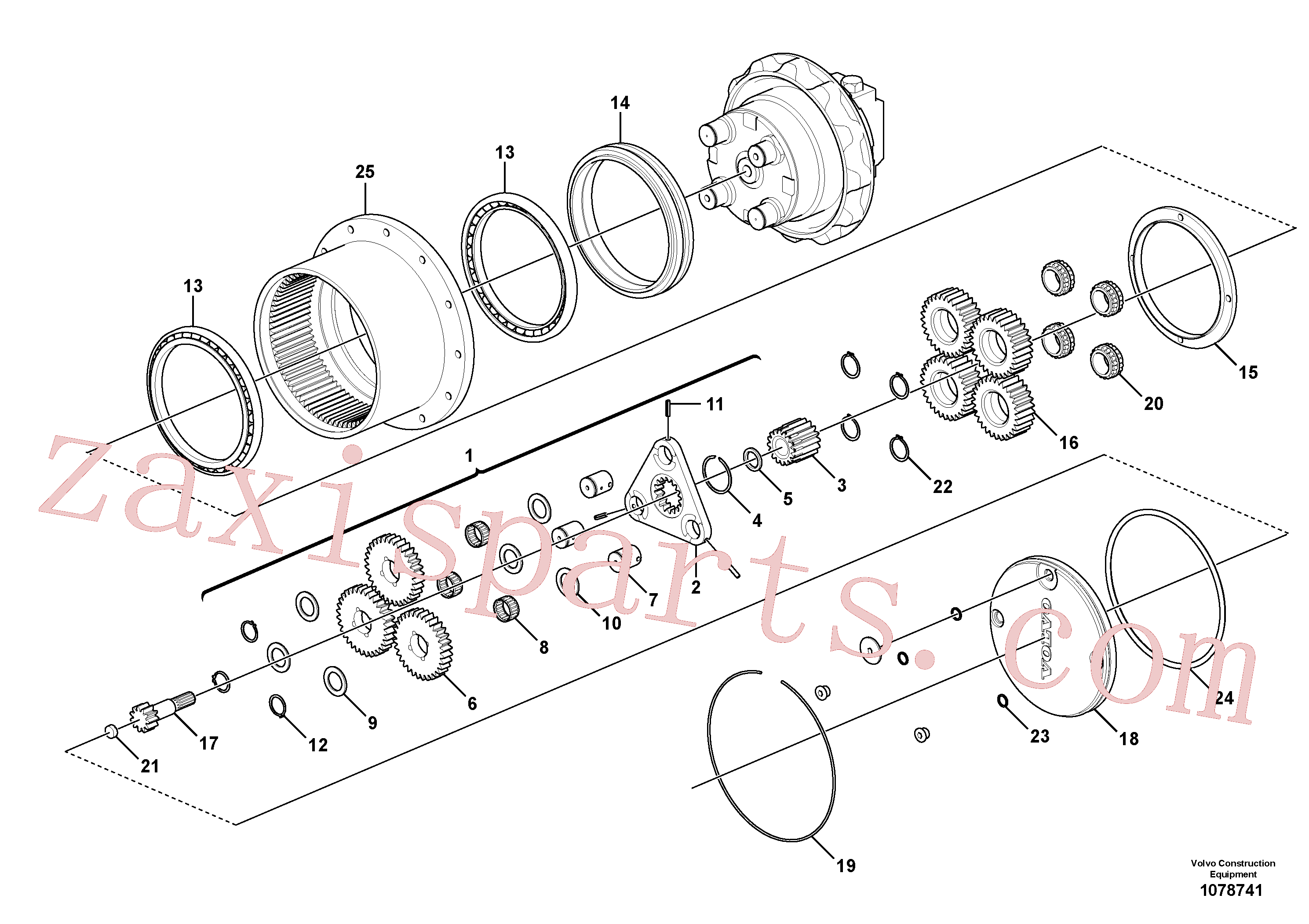 VOE14516567 for Volvo Travel gearbox(1078741 assembly)