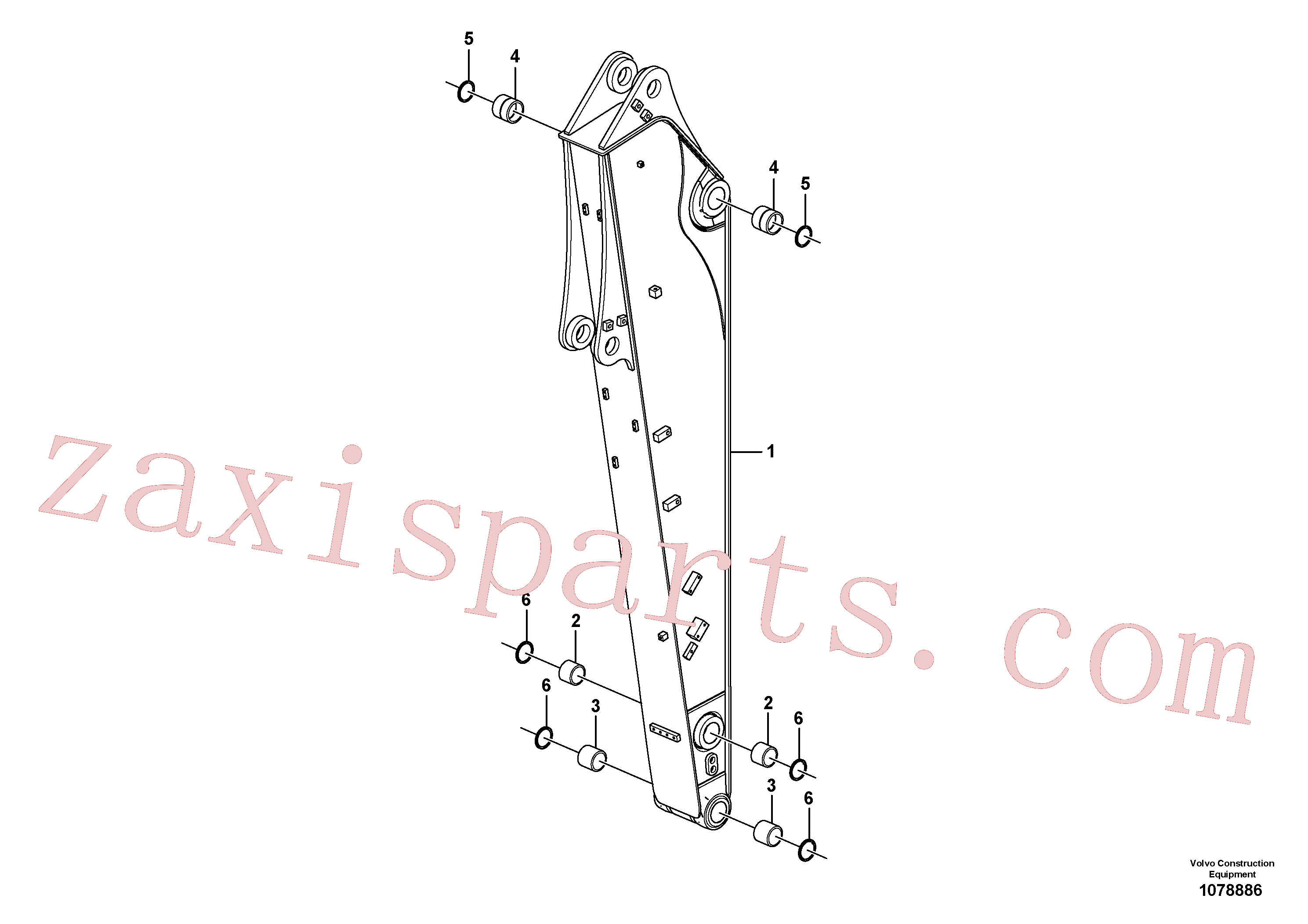 VOE14687075 for Volvo Dipper arm(1078886 assembly)
