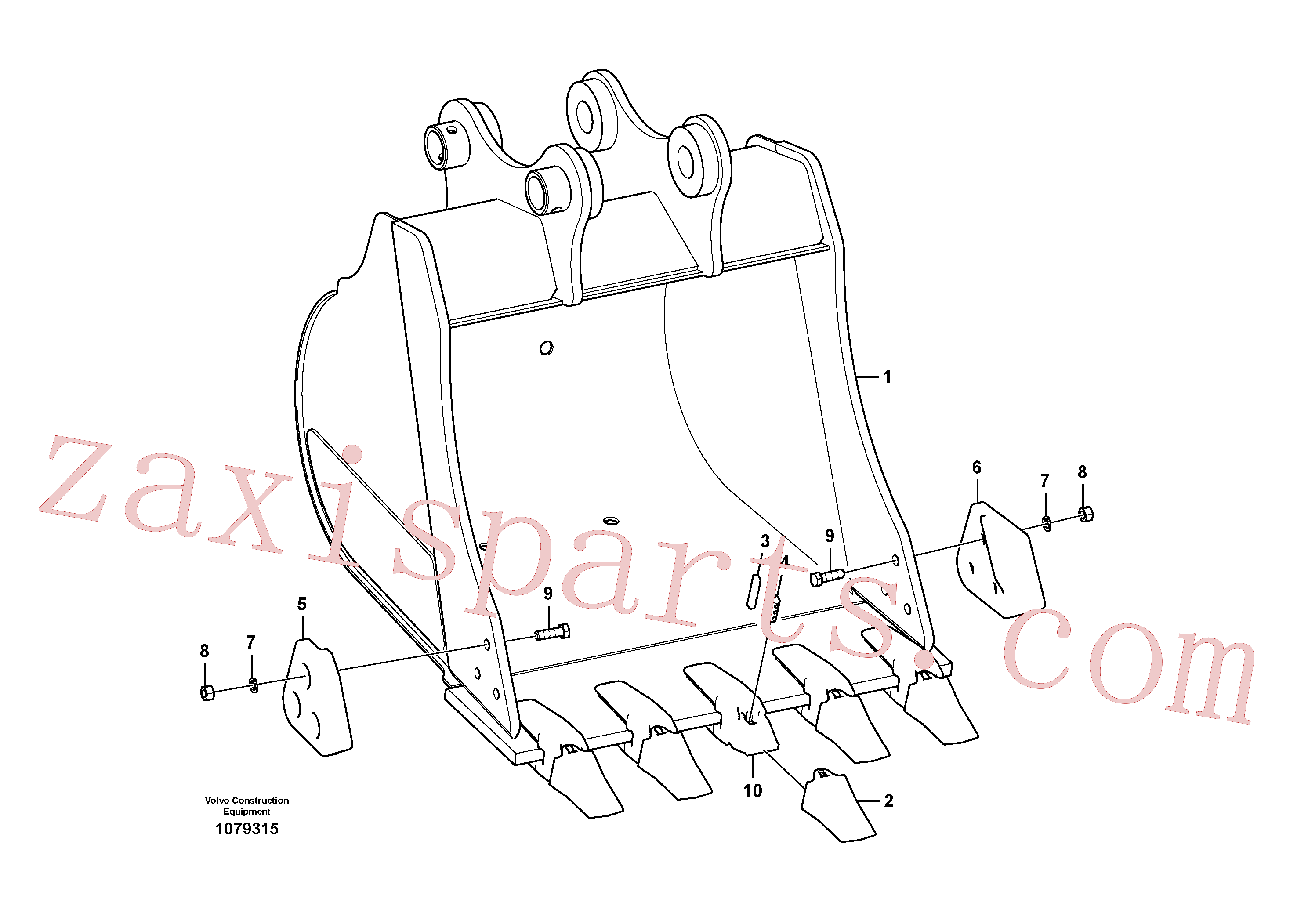 SA1071-01840 for Volvo Bucket(1079315 assembly)