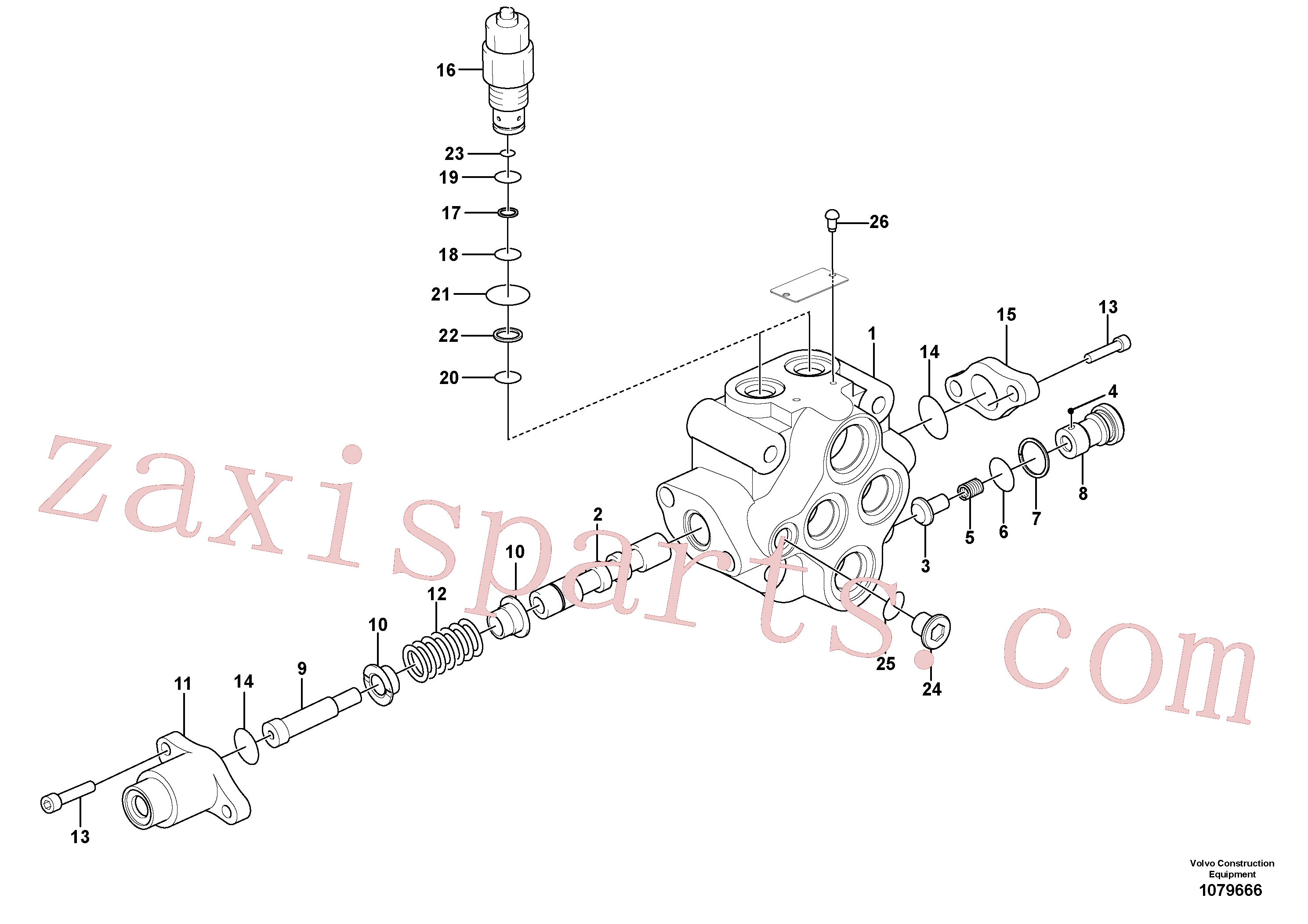 SA1010-11360 for Volvo Working hydraulics, dozer blade control valve(1079666 assembly)