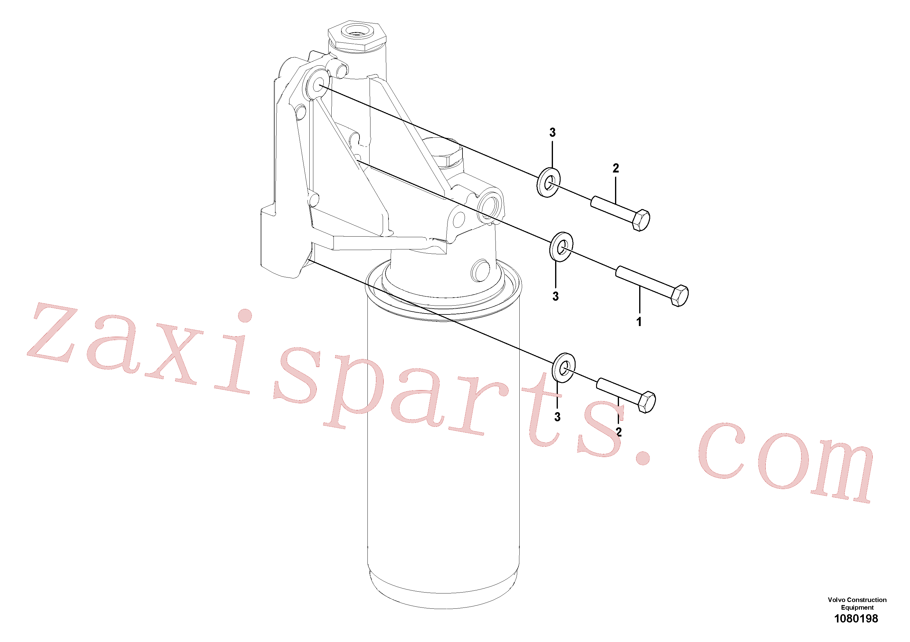 RM96713078 for Volvo Fuel filter with fitting parts(1080198 assembly)