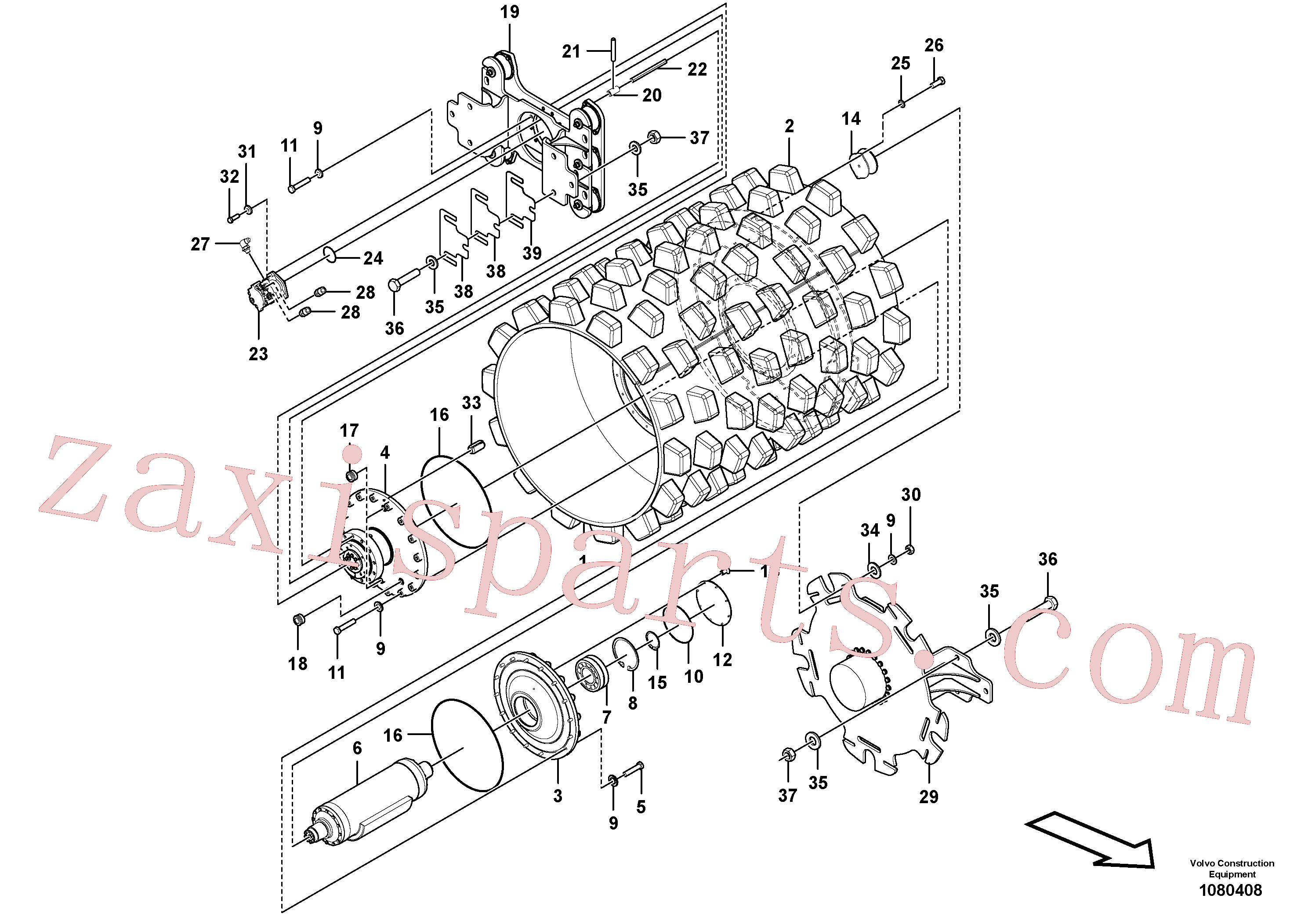 RM96711478 for Volvo Drum Assembly(1080408 assembly)