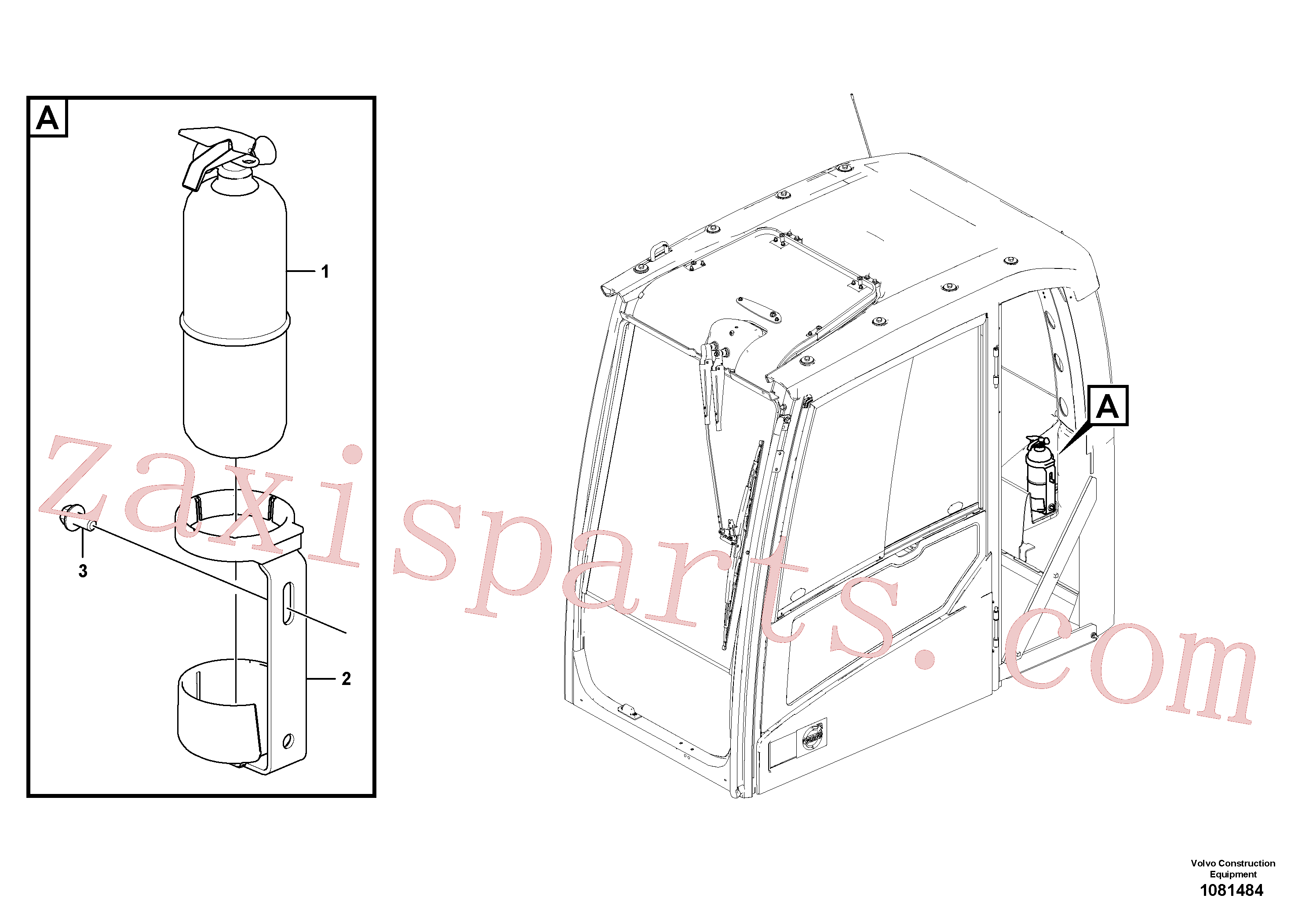 VOE14674894 for Volvo Fire extinguisher(1081484 assembly)