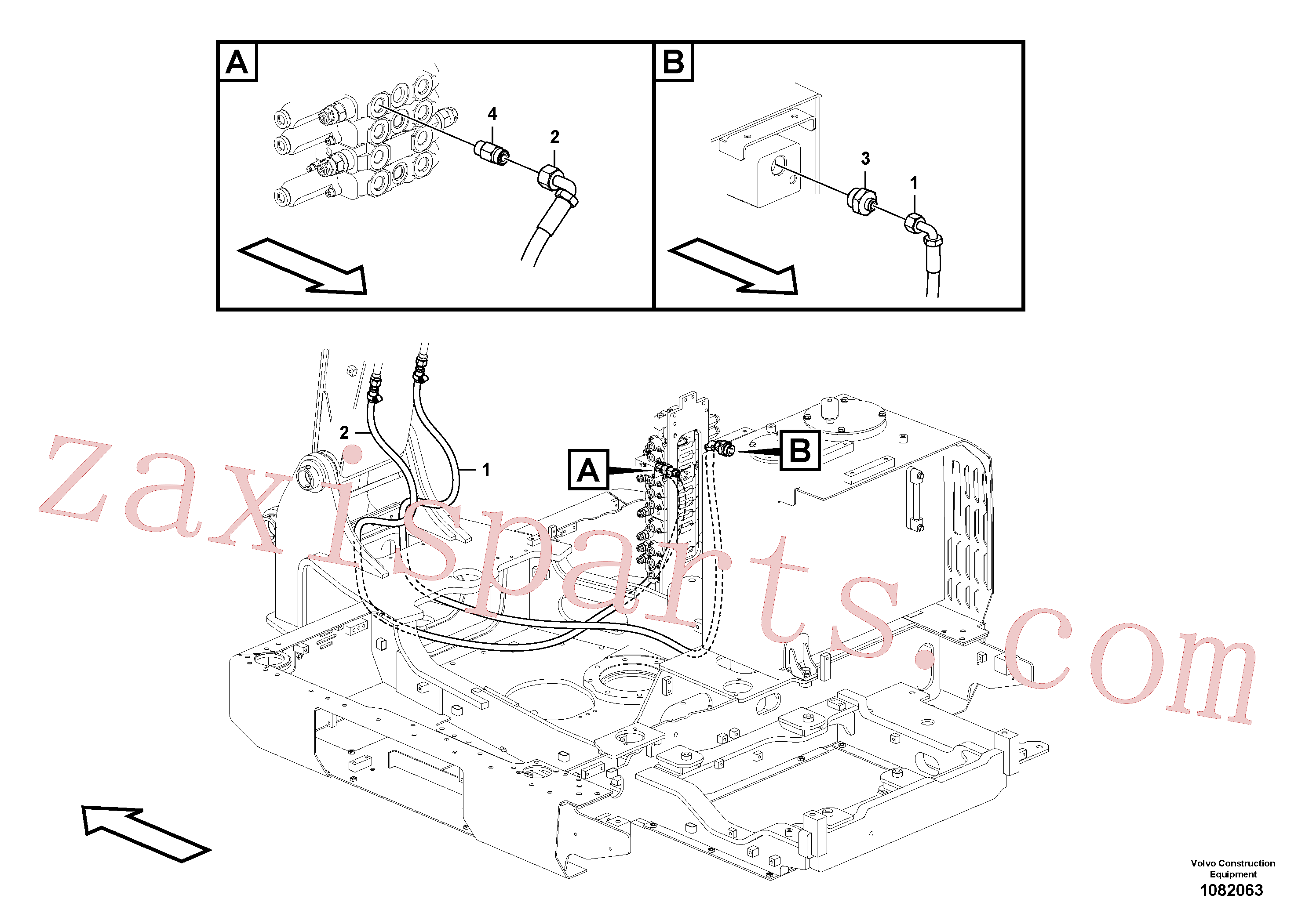 VOE14695741 for Volvo Working hydraulic, hammer and shear for upper(1082063 assembly)