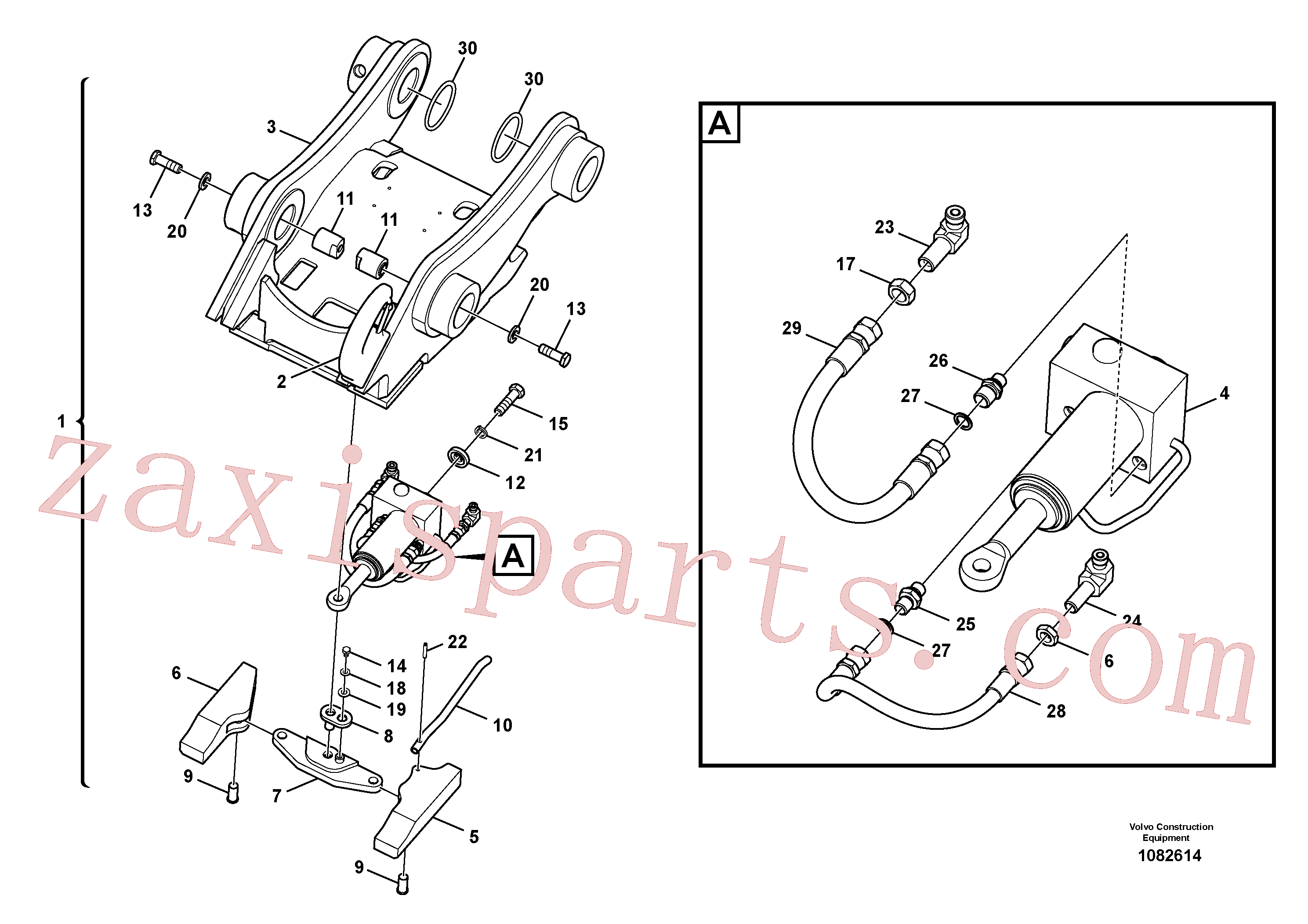 VOE14557800 for Volvo Attachment bracket, quickfit(1082614 assembly)