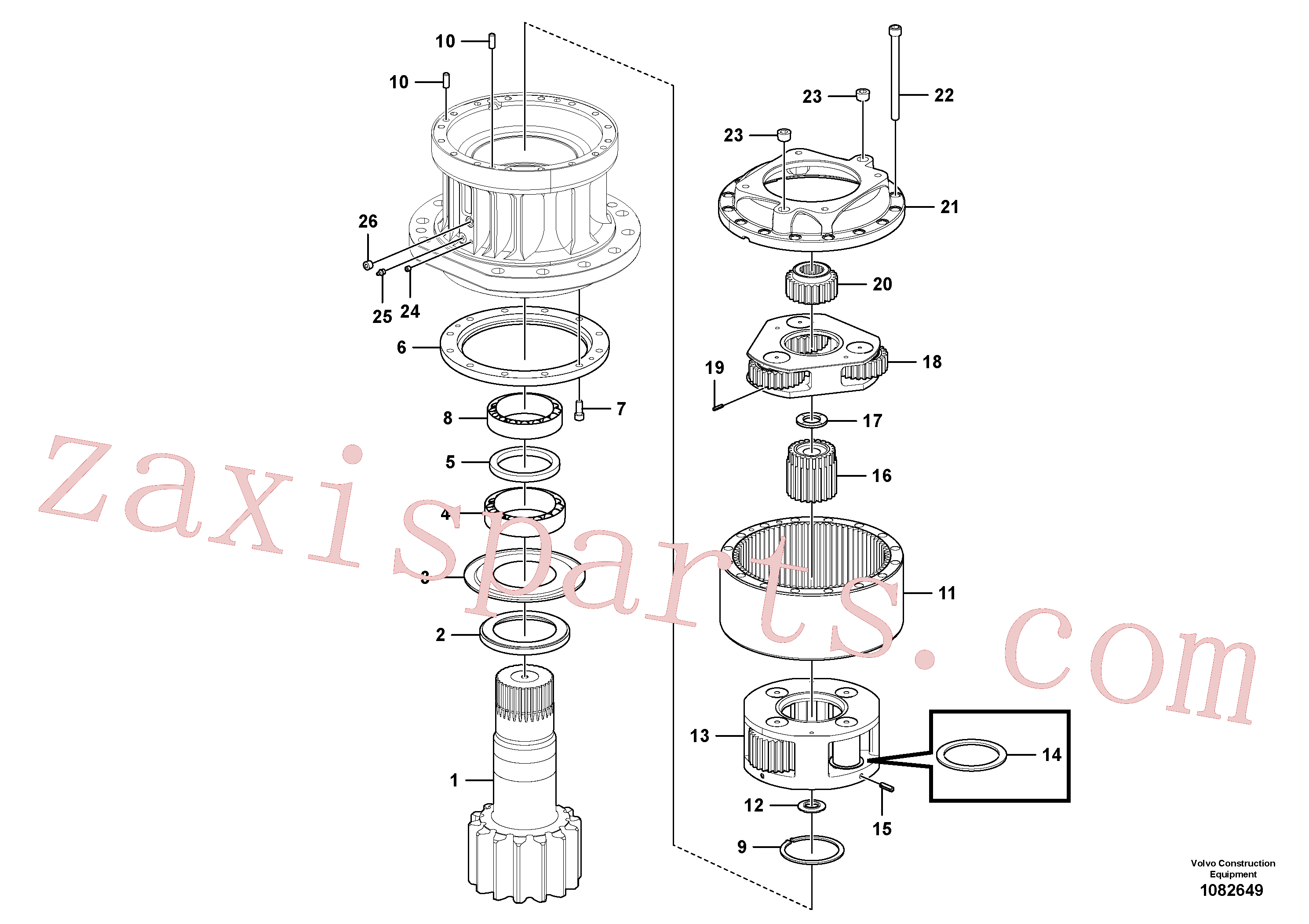 VOE14647338 for Volvo Swing gearbox(1082649 assembly)