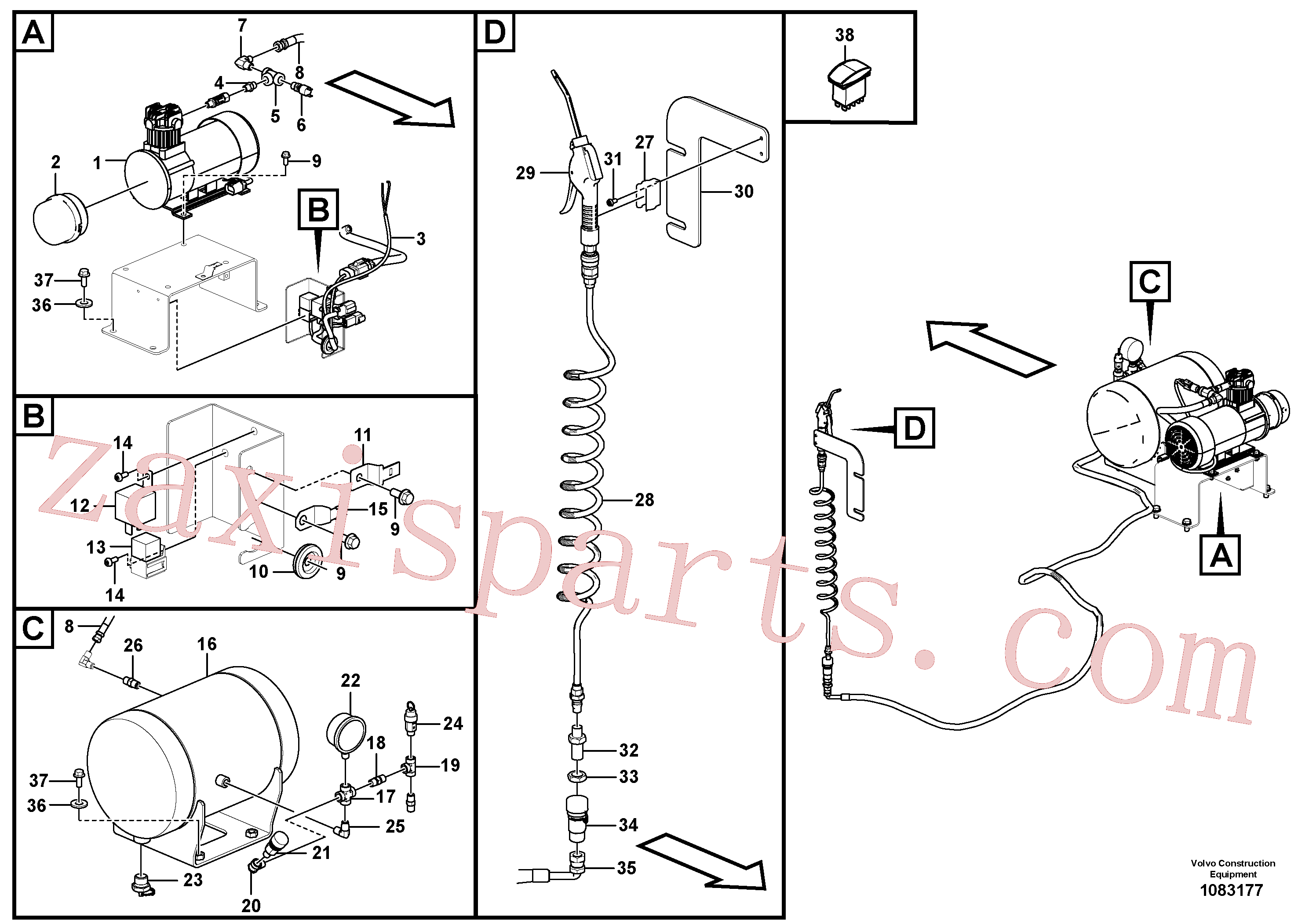 VOE14696325 for Volvo Air compressor(1083177 assembly)