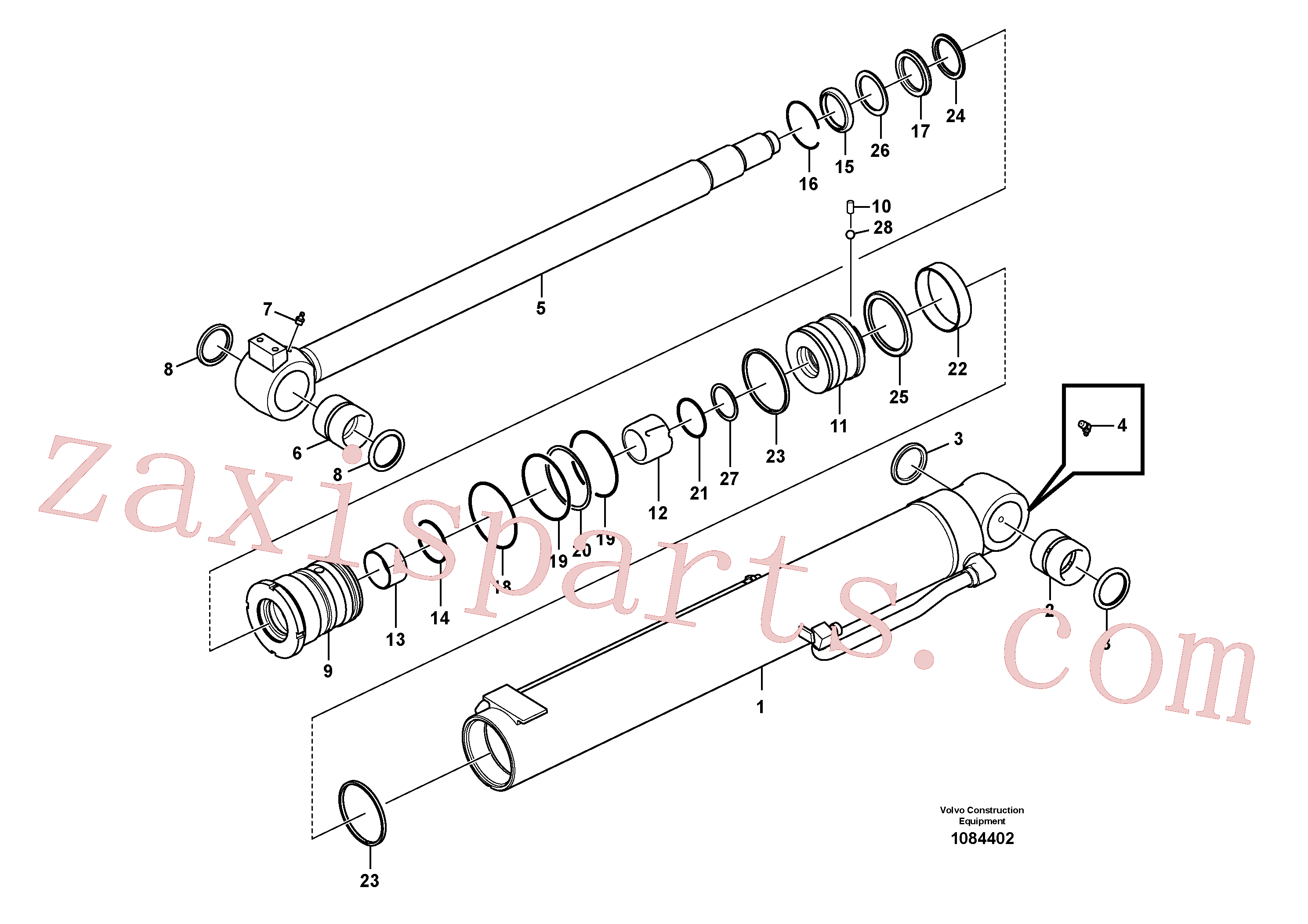 VOE14535605 for Volvo Boom cylinder(1084402 assembly)