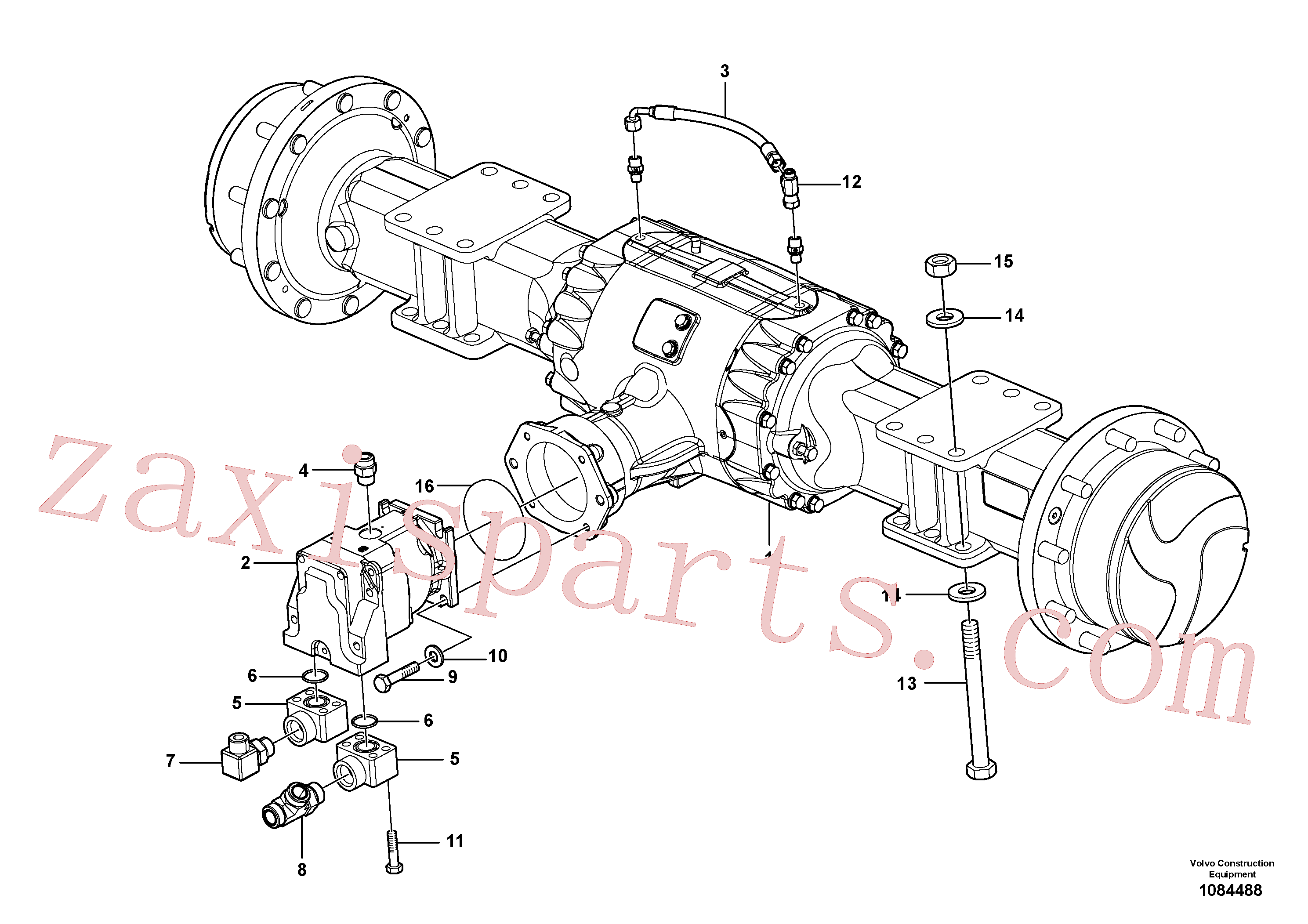 RM956606 for Volvo Axle Installation(1084488 assembly)