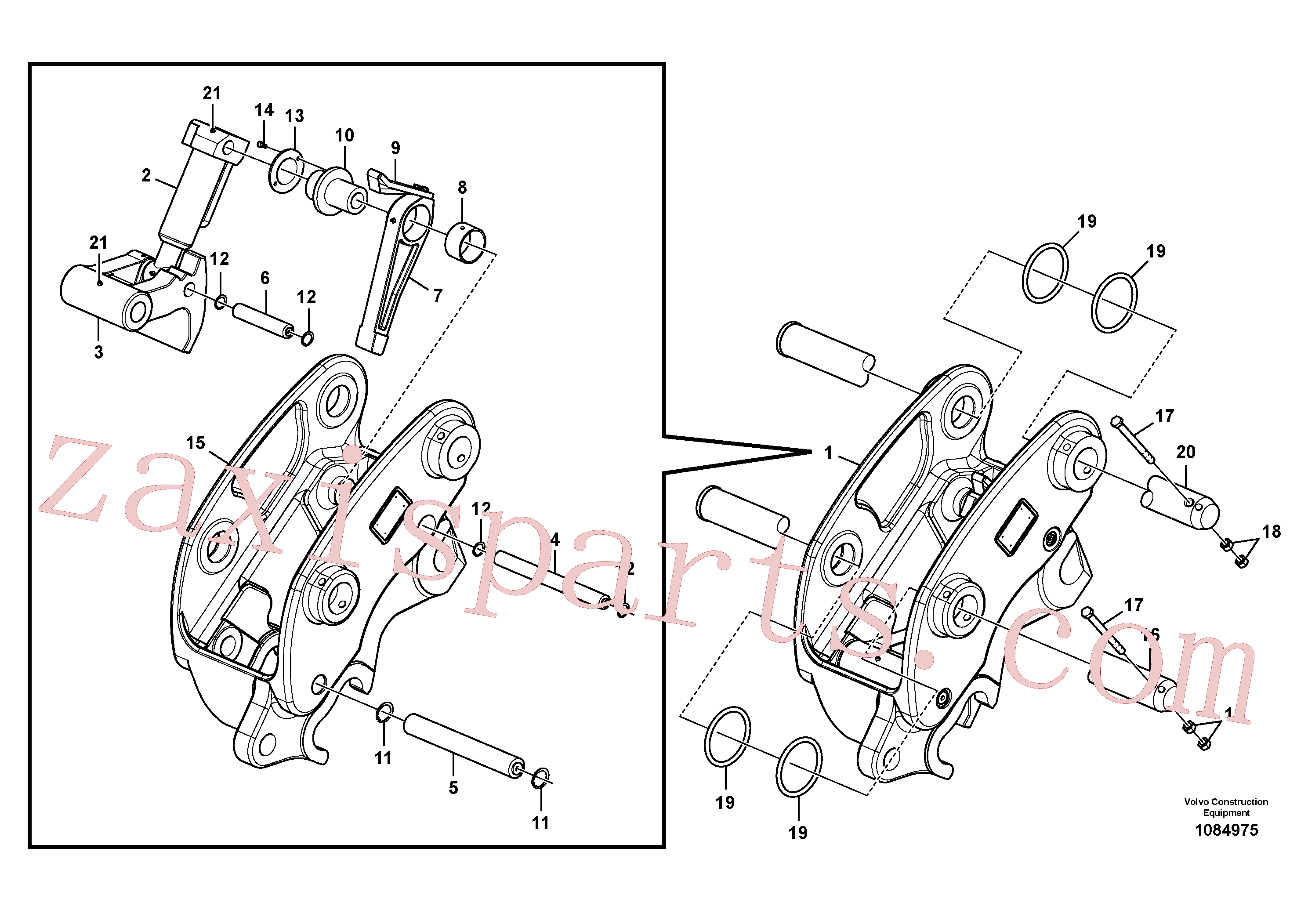 VOE14547892 for Volvo Attachment bracket, quickfit(1084975 assembly)