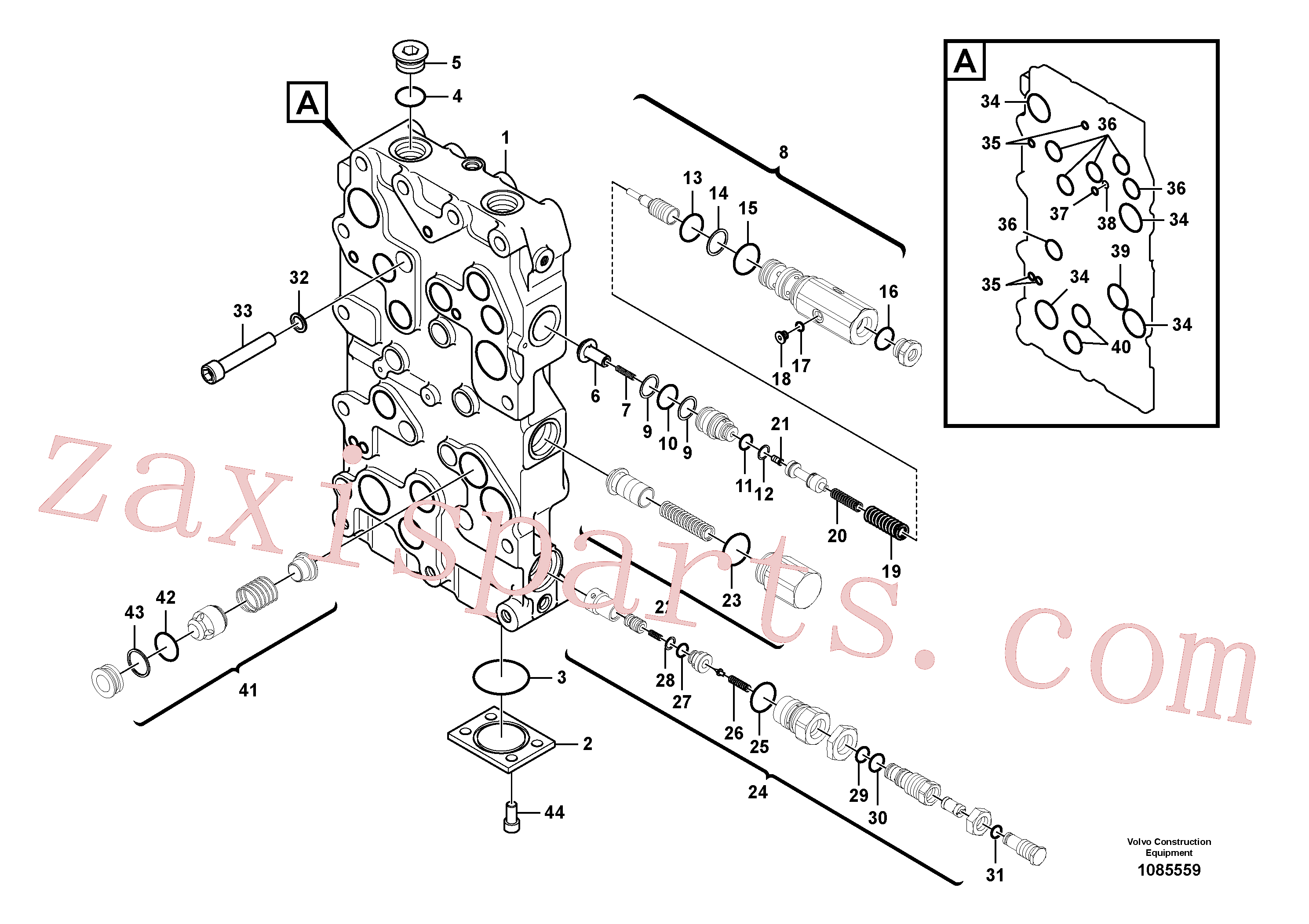 VOE14533609 for Volvo Main control valve(1085559 assembly)