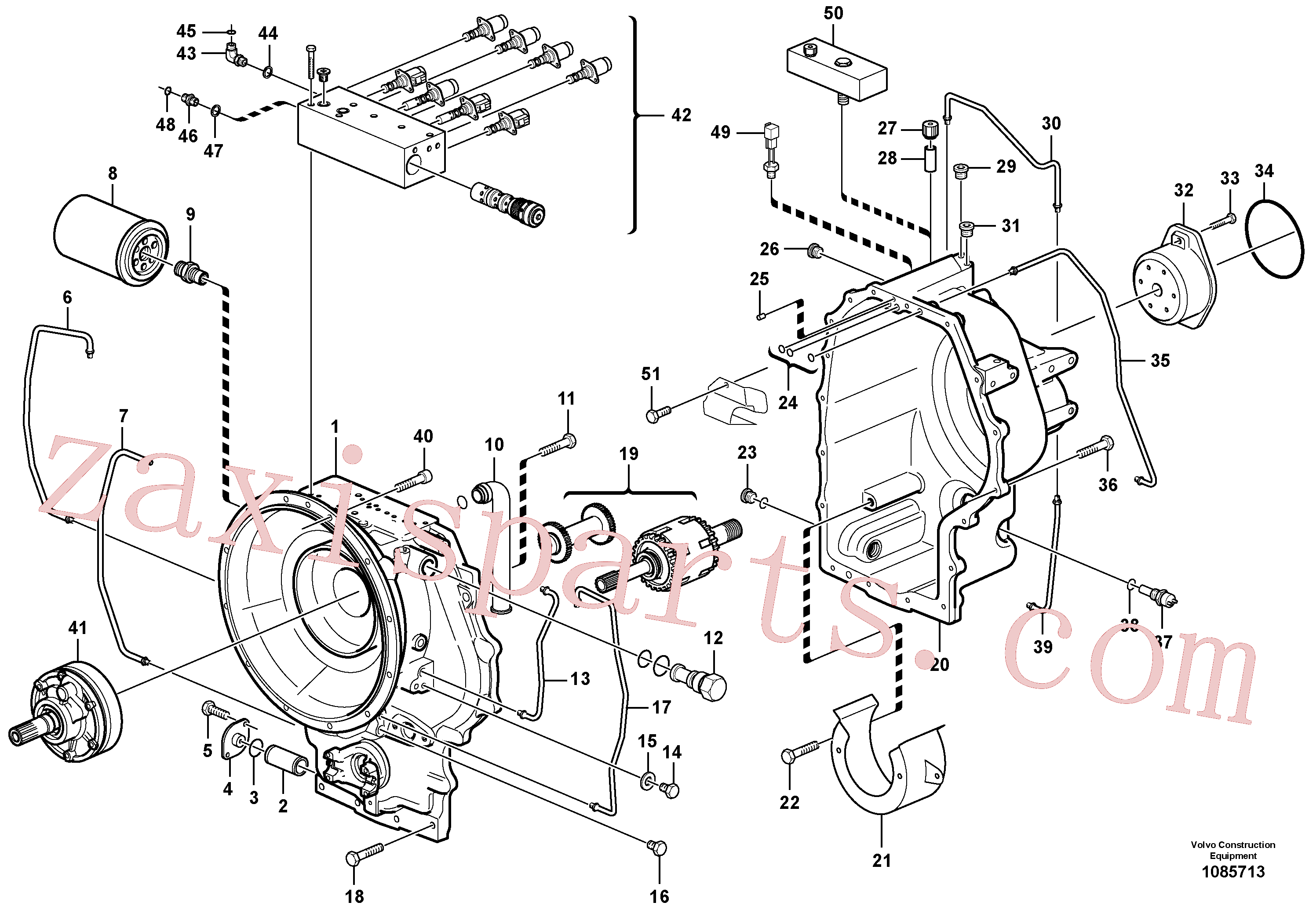 SA9324-11011 for Volvo Hydraulic transmission with fitting parts(1085713 assembly)