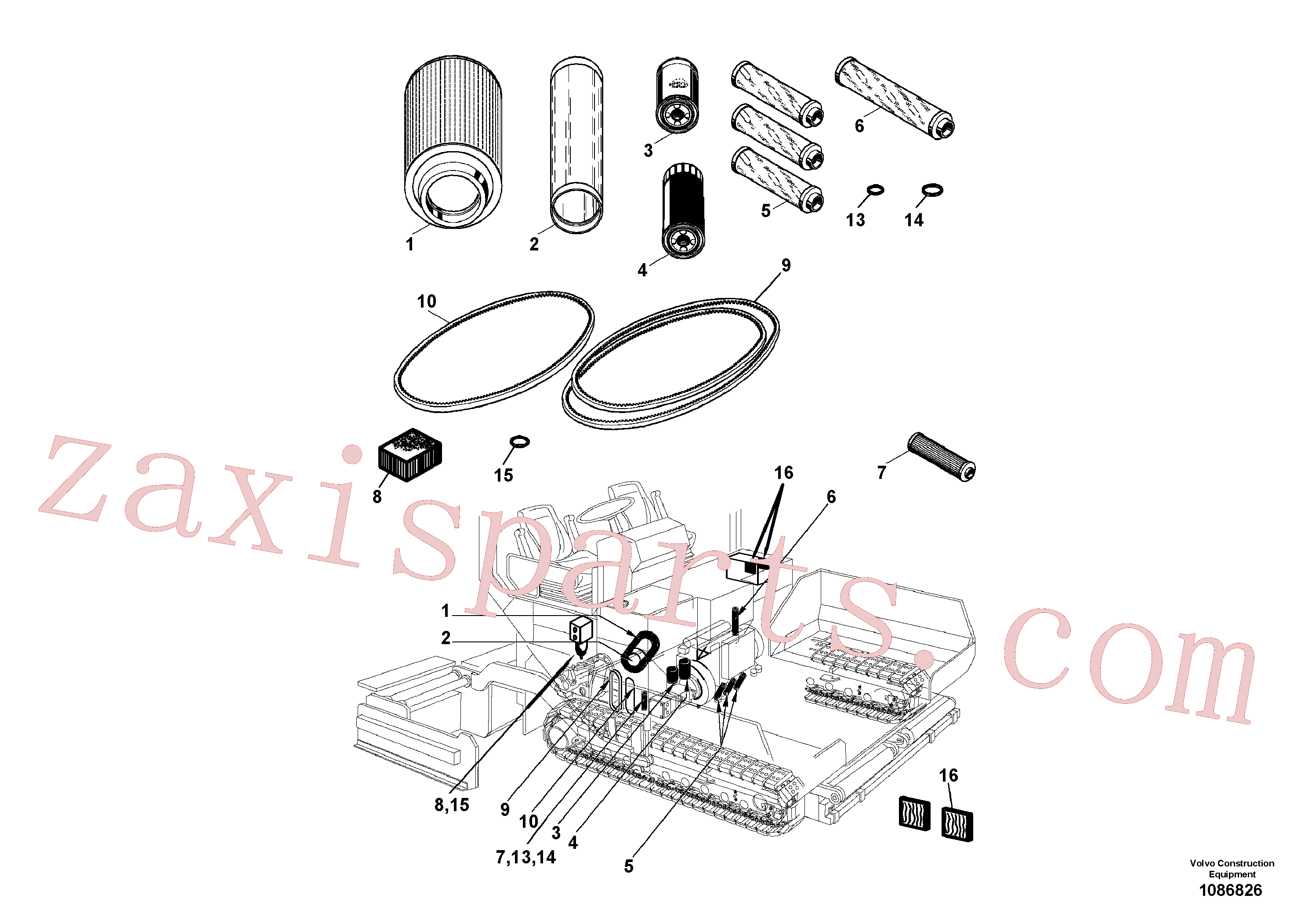 RM56241136 for Volvo Service Kit(1086826 assembly)