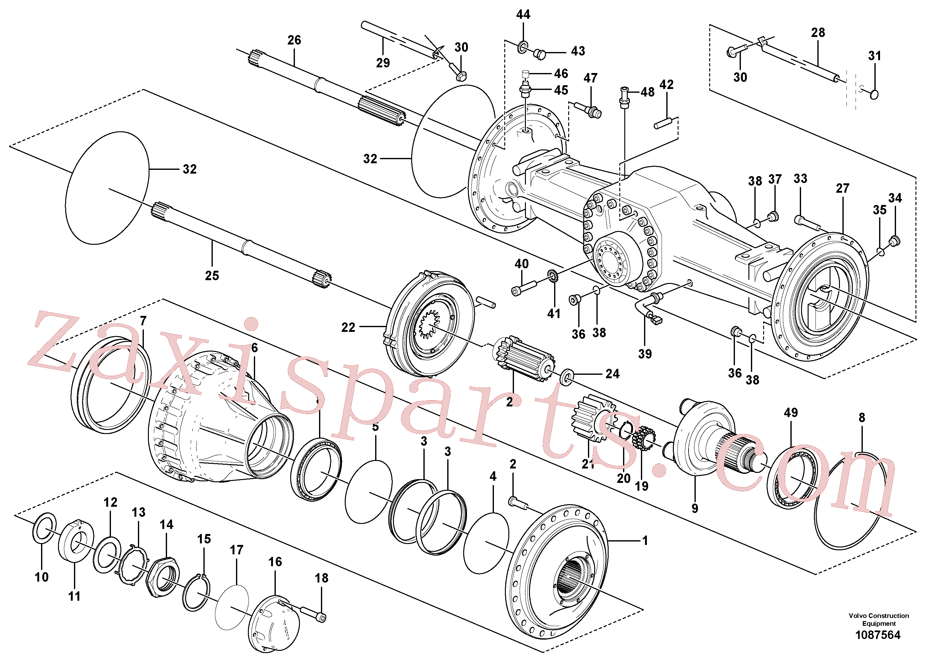 VOE11705205 for Volvo Planetary axle, rear(1087564 assembly)