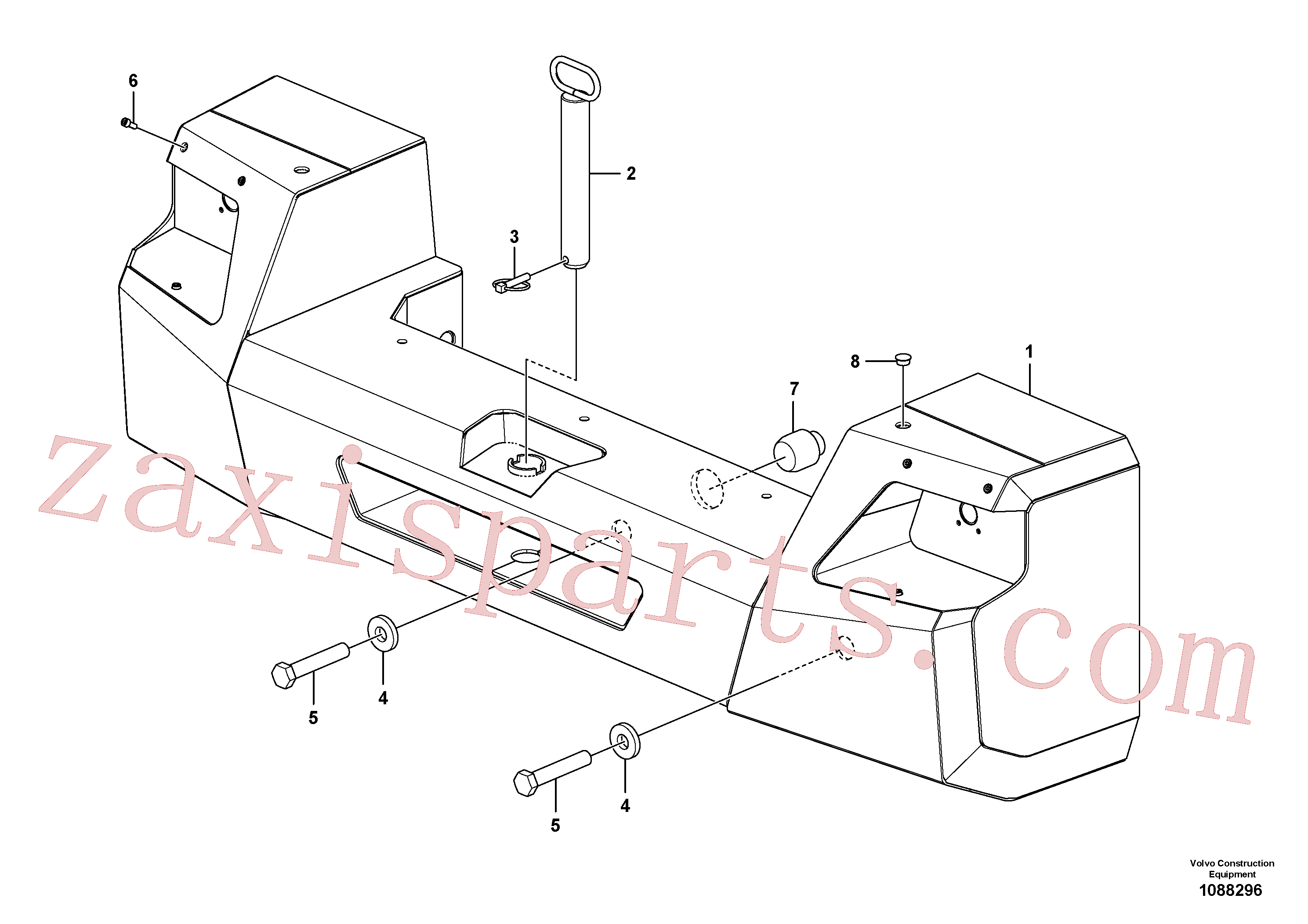 SA9011-22421 for Volvo Counterweights(1088296 assembly)